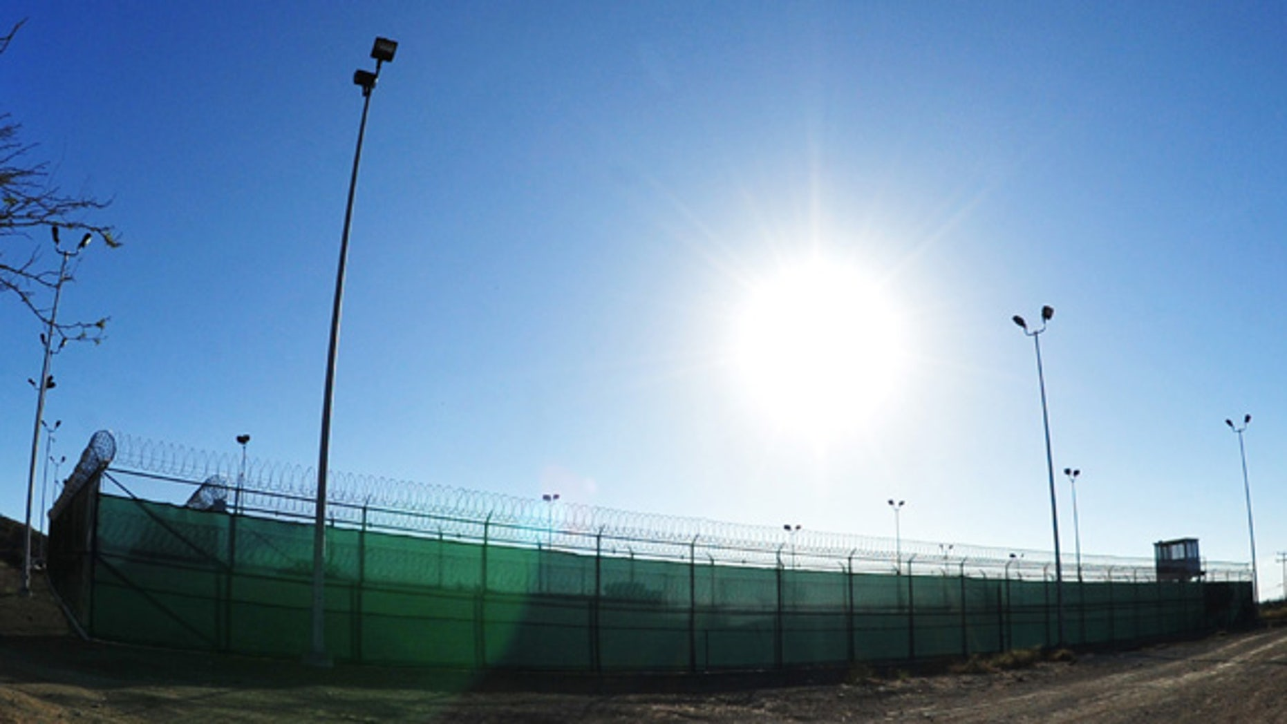 Feb. 28, 2012: A new soccer field for detainees at Camp 6 in Guantanamo Bay