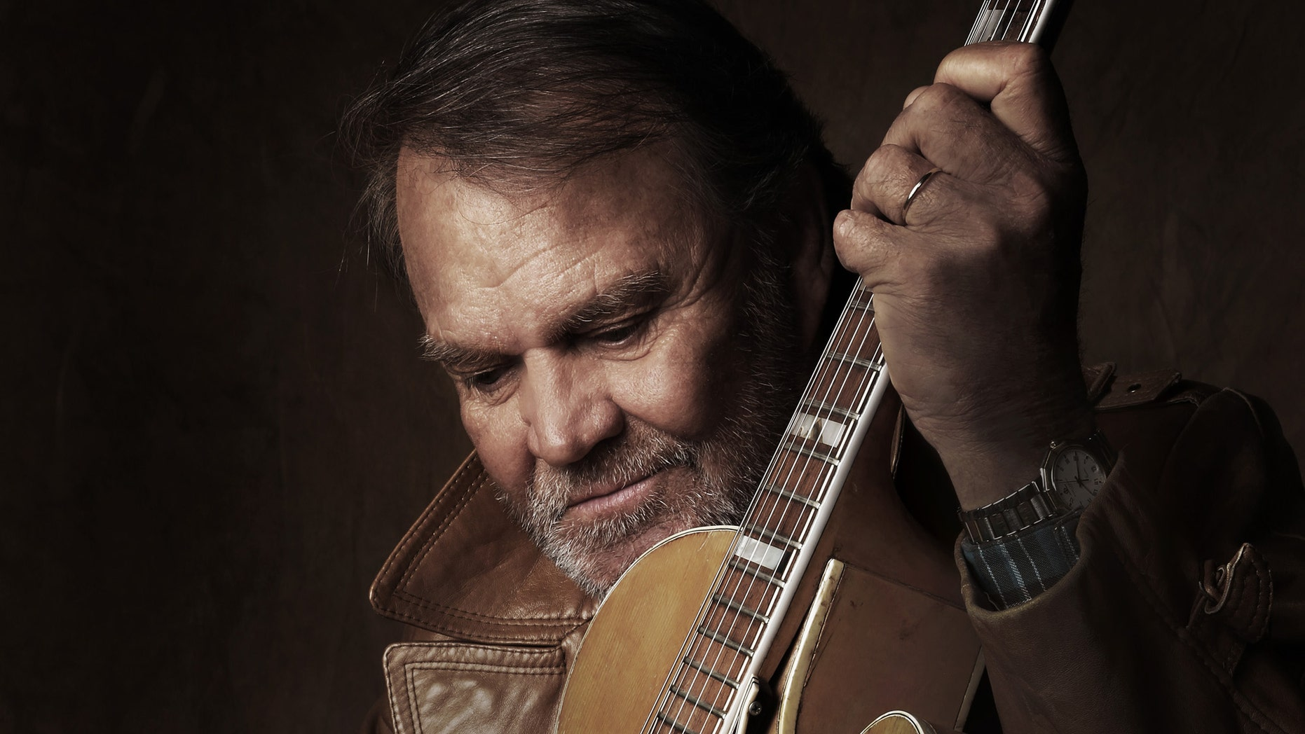 """A portrait of Glen Campbell, during the production of the documentary film, """"Glen Campbell... I'll Be Me"""" directed by James Keach. The film is nominated for two Oscars: documentary feature and original song."""