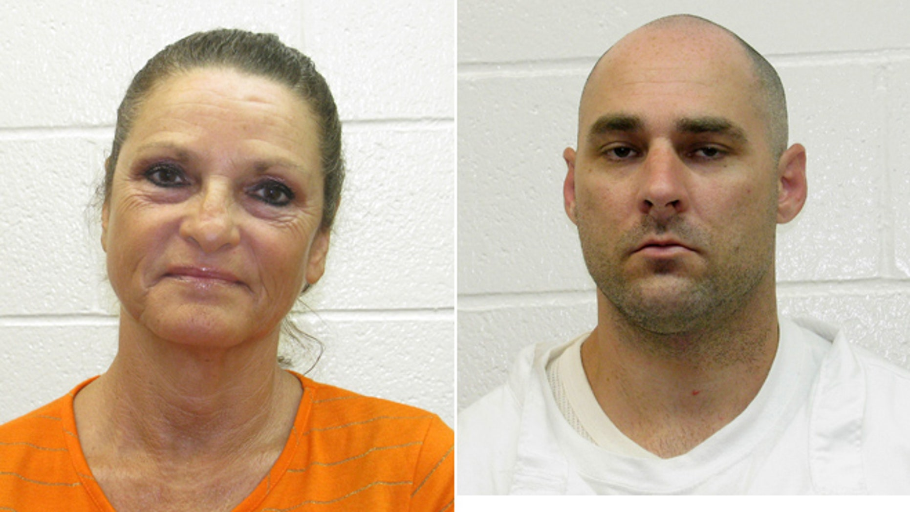Glenda Estell, left, was arrested Friday for allegedly assisting in Derrick Estell's escape from the Garland County Detention Center on July 28, 2013.