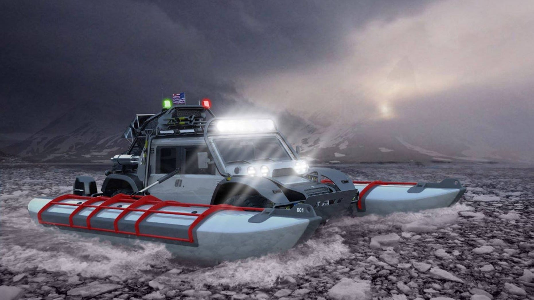 The Baja Boot will be outfitted to cross the Bering Strait