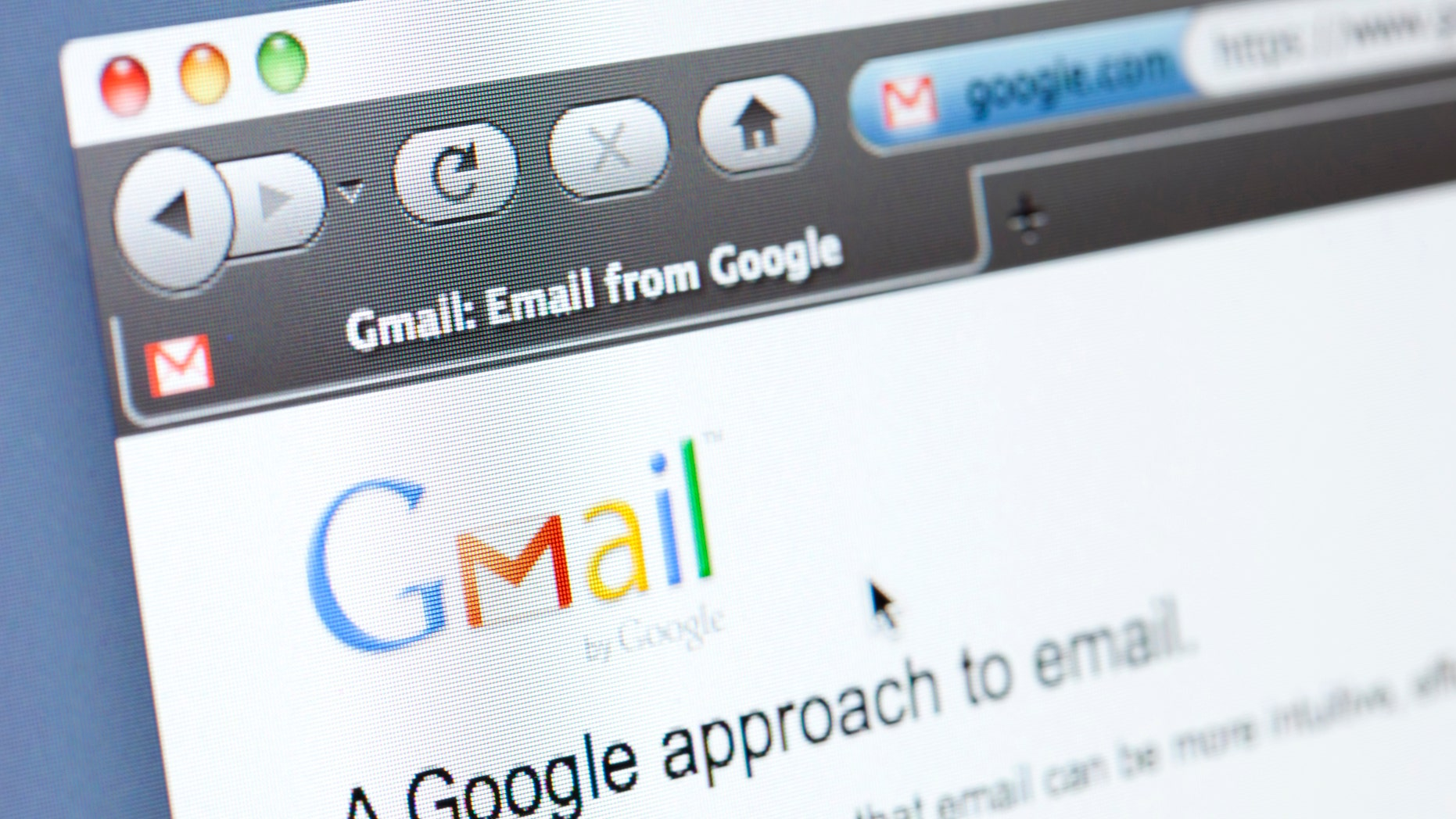 File photo - The Google based mail website seen in a Firefox web browser (iStock)