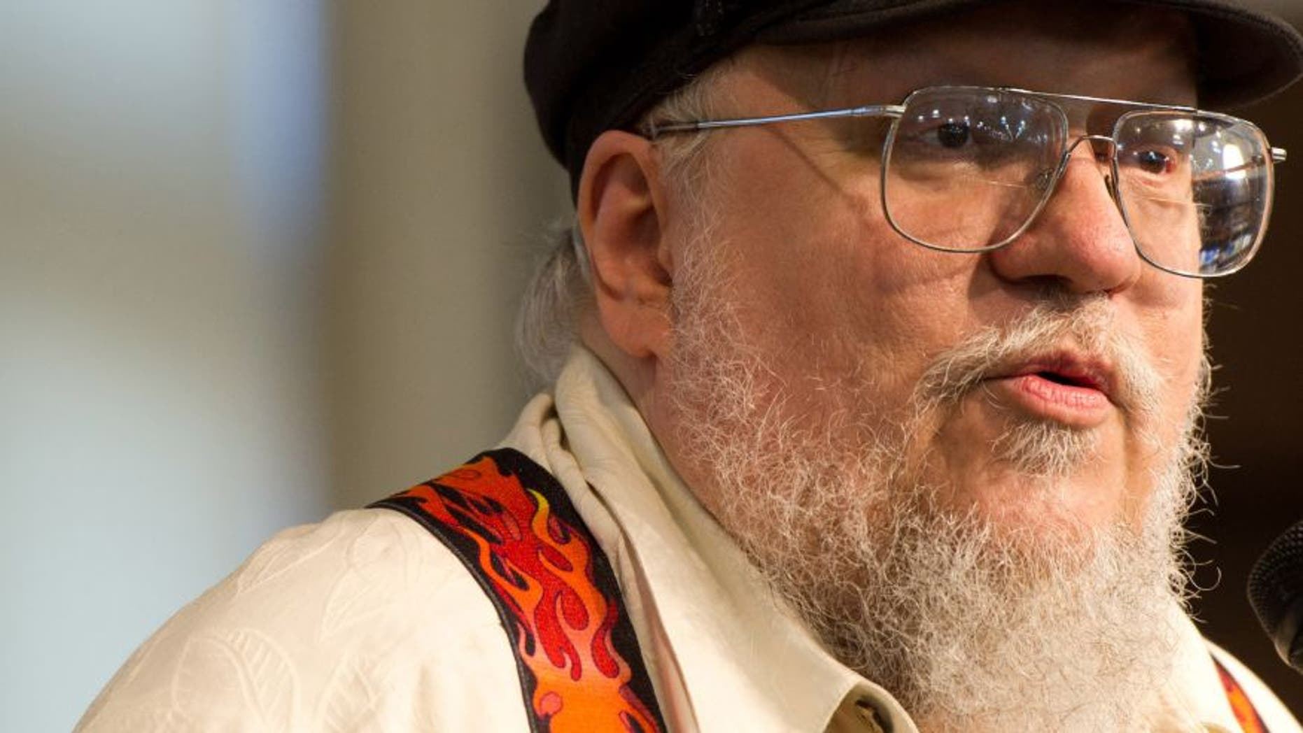 """July 14, 2011. George R.R. Martin attends a book signing for """"A Dance with Dragons"""" at Barnes & Noble in New York."""