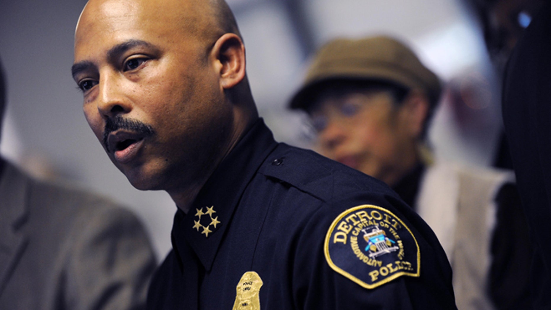 Jan. 5, 2012: Detroit Police Chief Ralph Godbee speaks during a news conference at the Northeastern District Police Station, in Detroit.