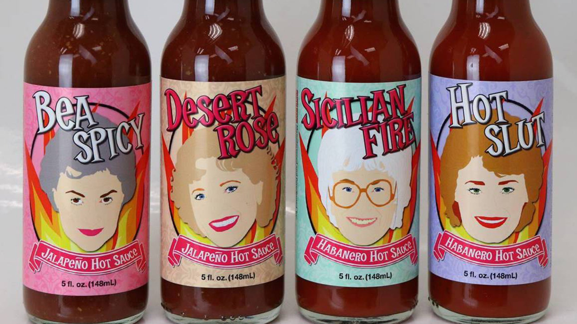 """The Golden Girls"" fab four have been turned into some ultra-spicy hot sauces here to punch up bland meals."