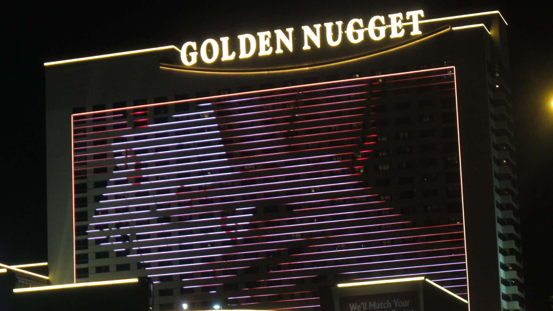 Aug. 31, 2012:  The exterior of the Golden Nugget casino in Atlantic City N.J.