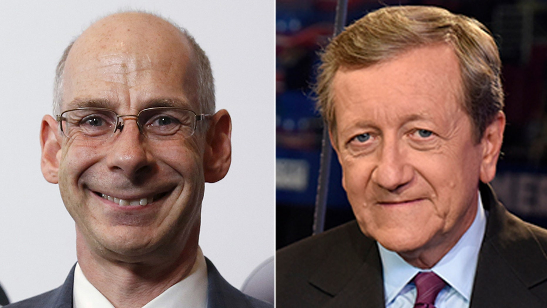 ABC News president James Goldston, left, berated staff Monday for suspended investigative reporter Brian Ross's botched story on former national security adviser Michael Flynn.