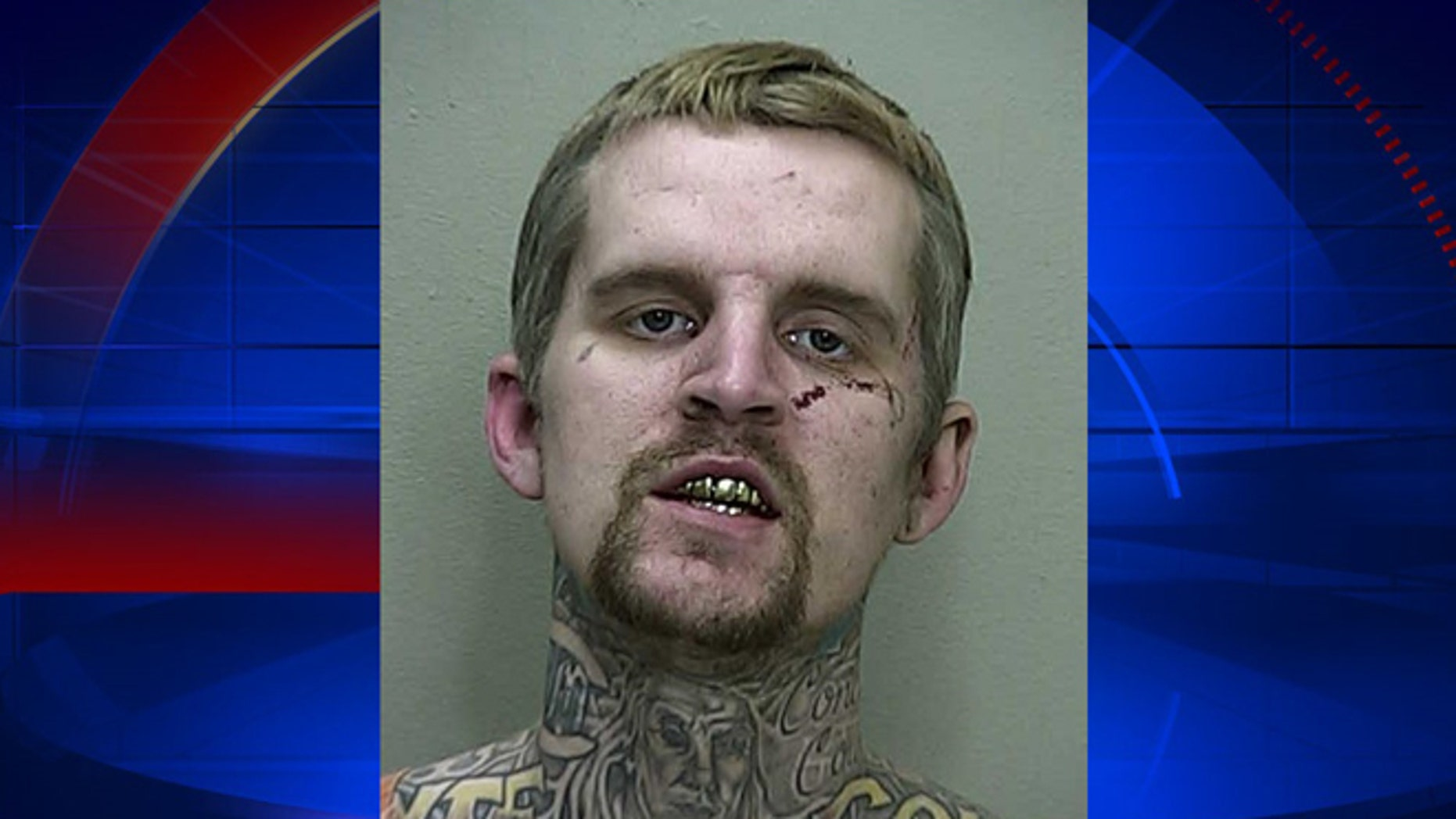 Mugshot of Scott Michael Beekman, also known as 'Gold teeth.'