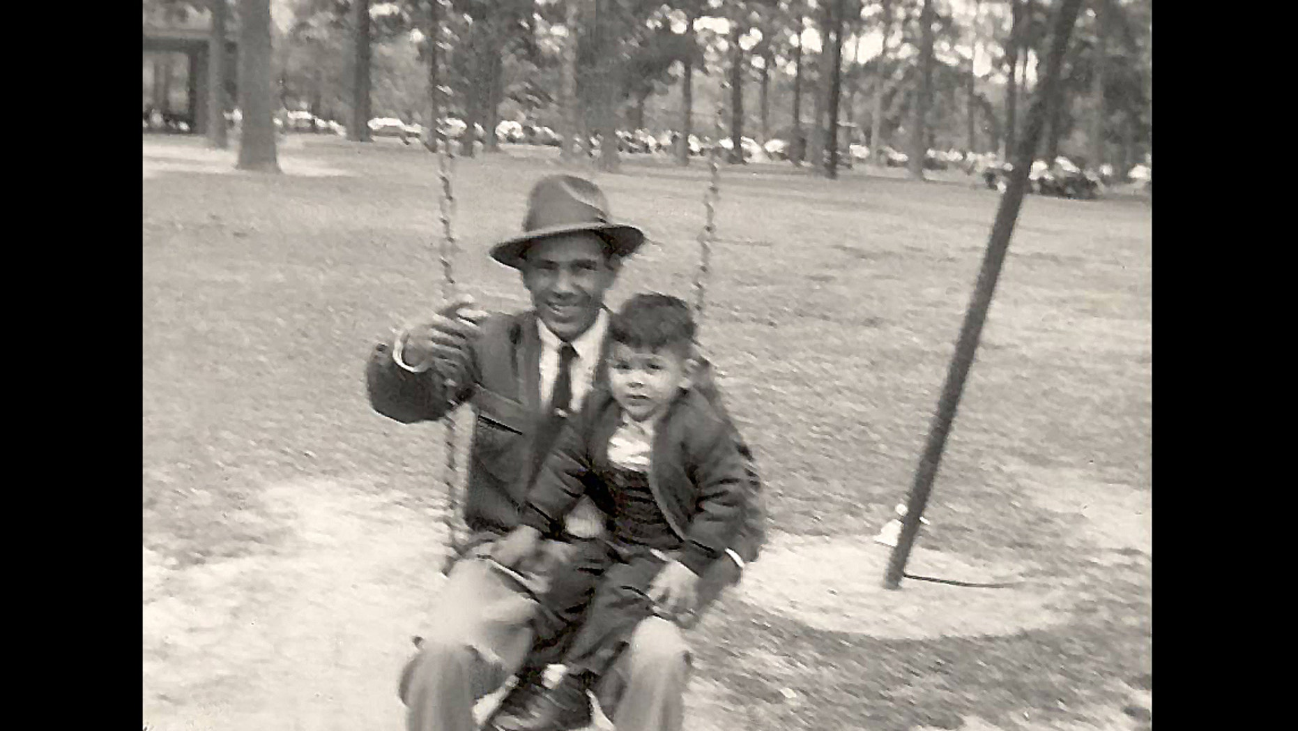 Alberto Gonzales, former U.S. Attorney General under the George W. Bush administration, pictured as a child with his father, Pablo.