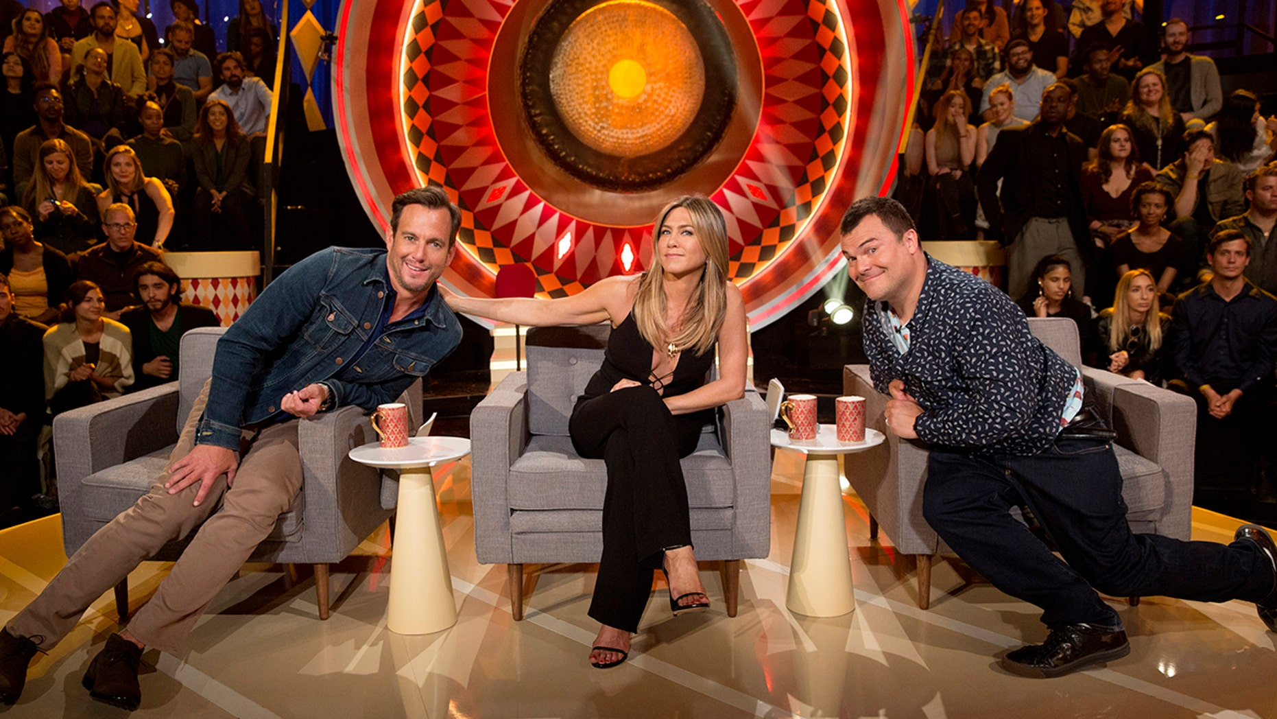 "THE GONG SHOW - ""Episode 101"" - Celebrity judges Will Arnett, Jennifer Aniston and Jack Black are set to praise, critique and gong unusually talented and unique performers, on ""The Gong Show,"" MONDAY, AUGUST 14 (10:01-11:00 p.m. EDT), on The ABC Television Network. (ABC/Greg Gayne)