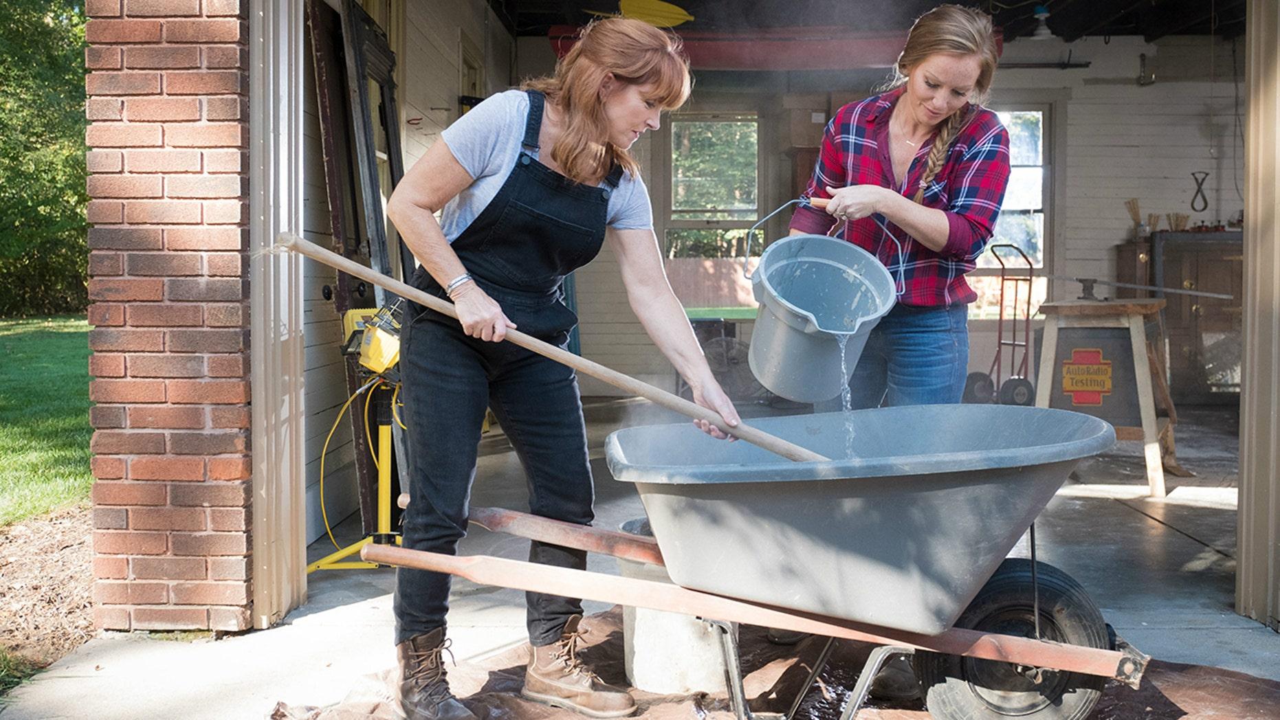 "Karen E. Laine (left) and Mina Starsiak are the stars of HGTV's ""Good Bones."""