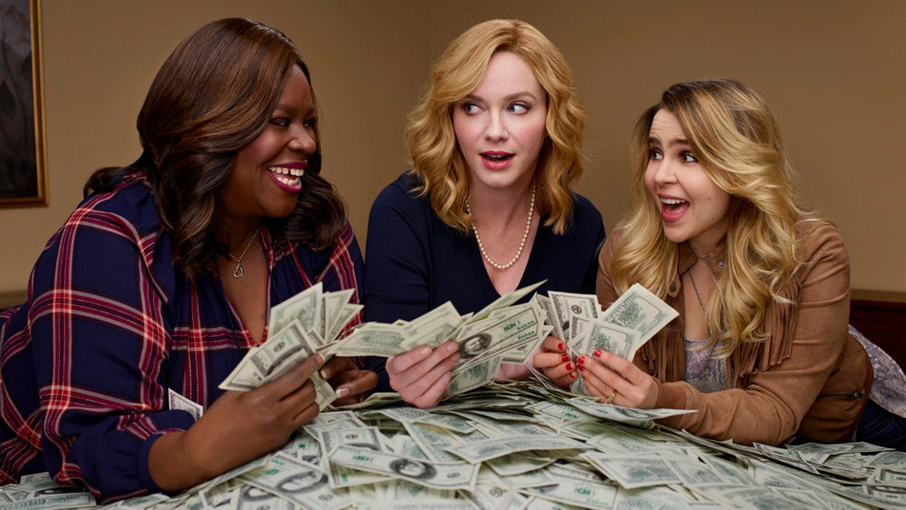 """Good Girls"" stars Retta as Ruby Hill, left, Christina Hendricks as Beth Boland, center, Mae Whitman as Annie Marks."