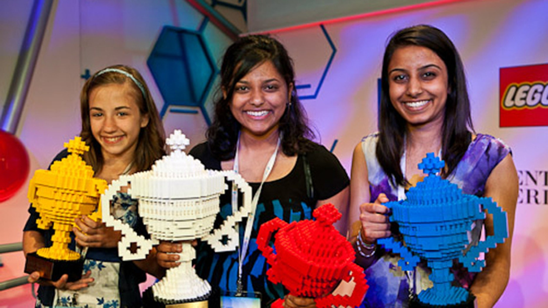 Winners (from left to right): Lauren Hodge, Shree Bose, Naomi Shah