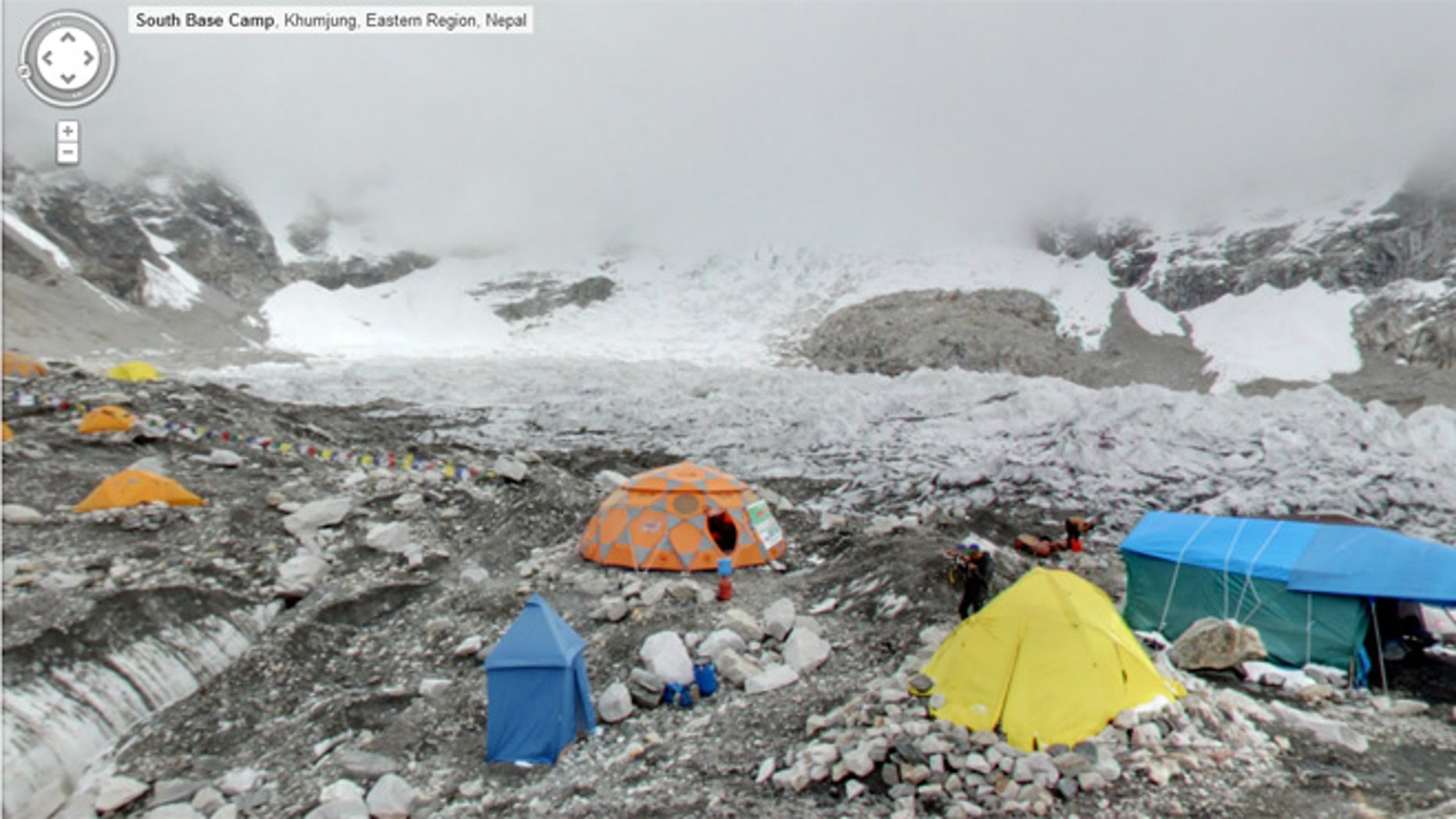 Hanging out at the Everest Base Camp courtesy of Google Street View.