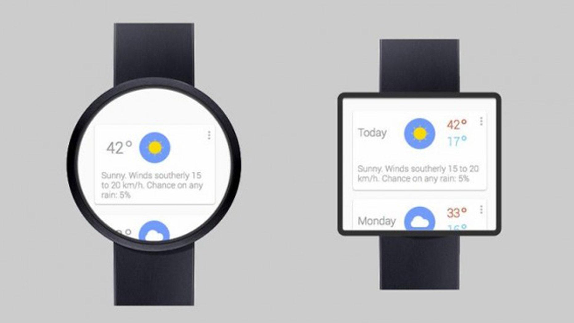 Artist Adrian Maciburko's concept of the unreleased Google smartwatch.