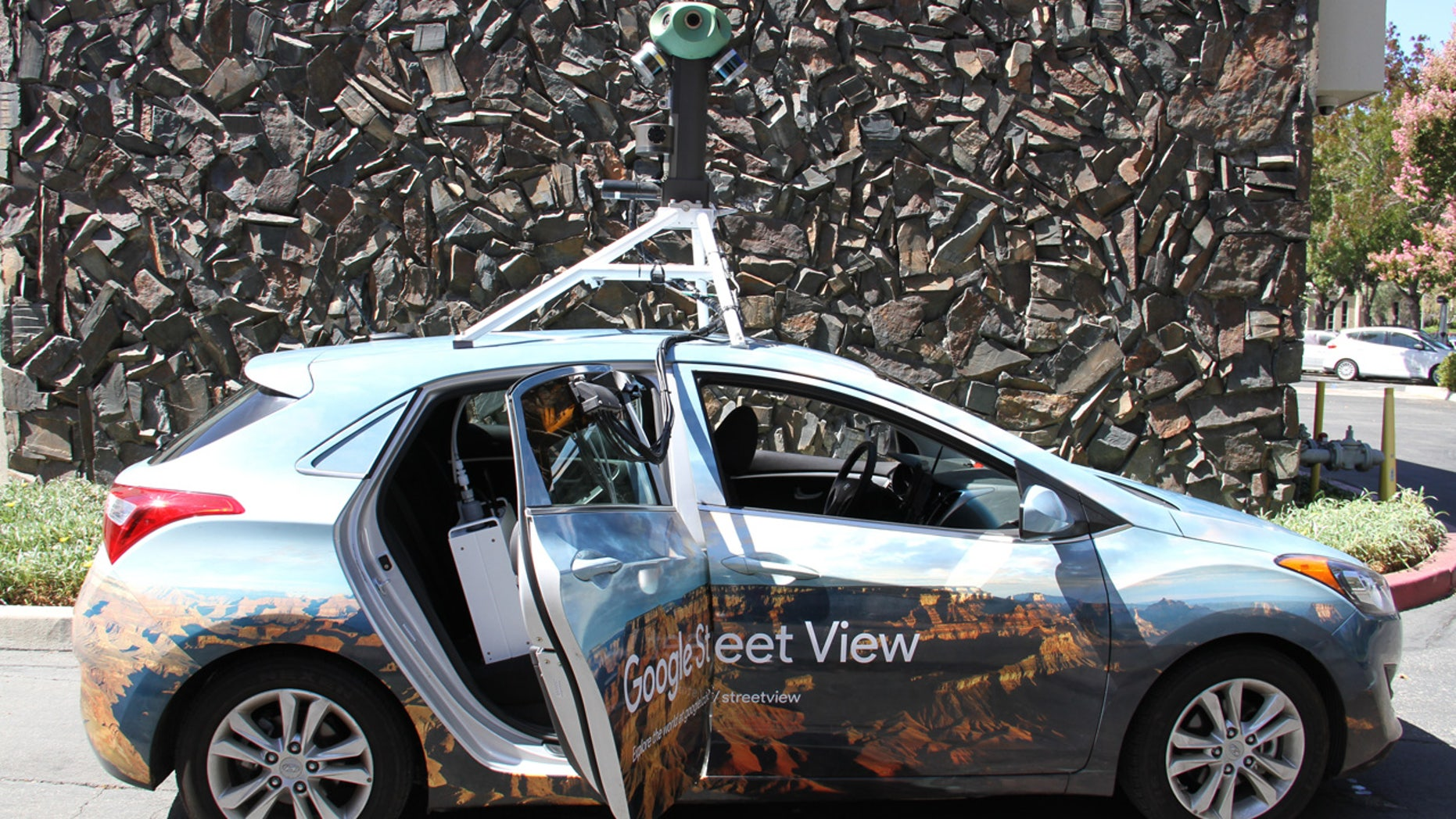 A Google Street View Car equipped with Aclima's mobile air quality sensing platform that will be rolling out across the U.S. and Europe later this year.