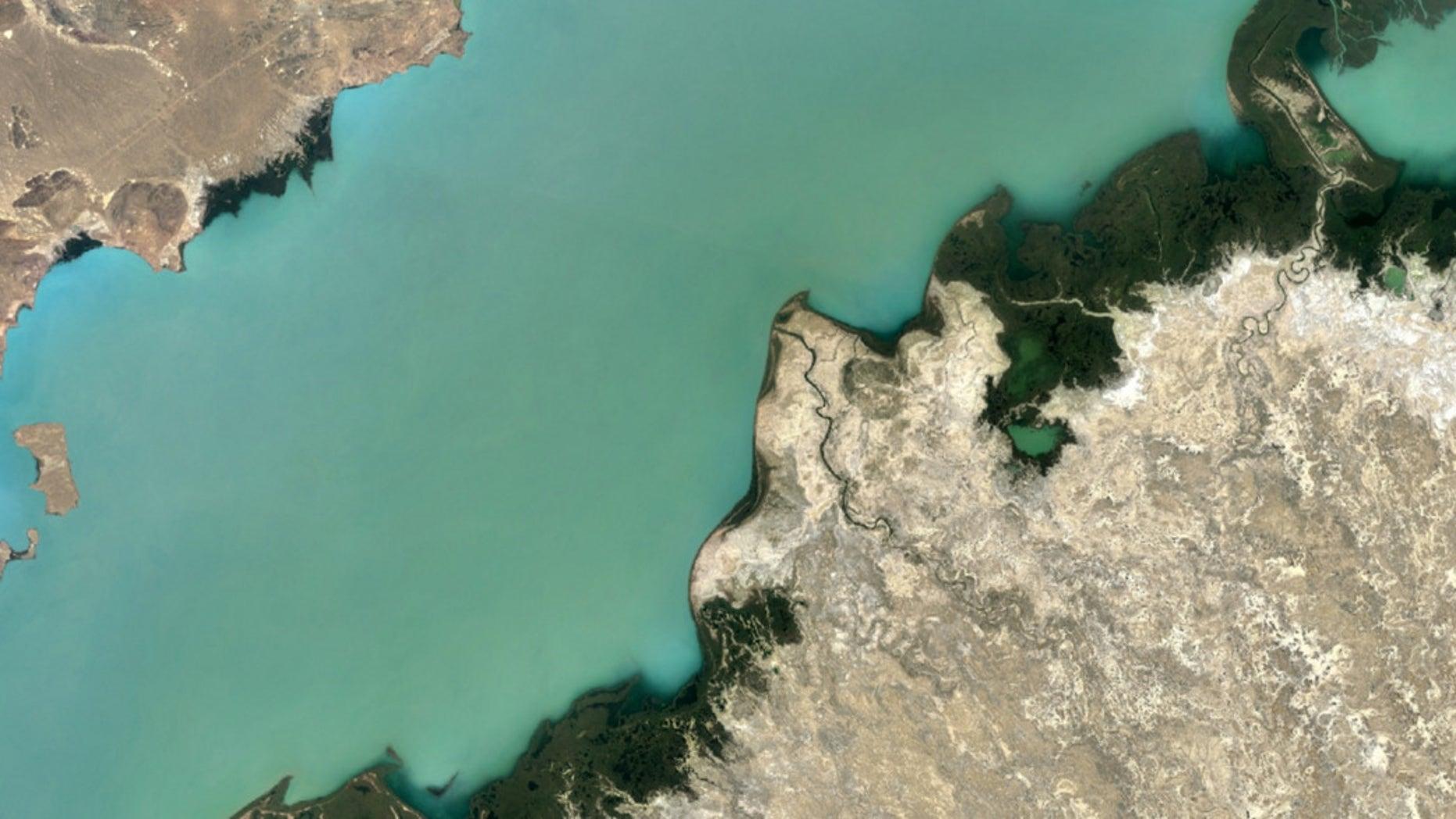 Lake Balkhash, Kazakhstan (Google Earth).