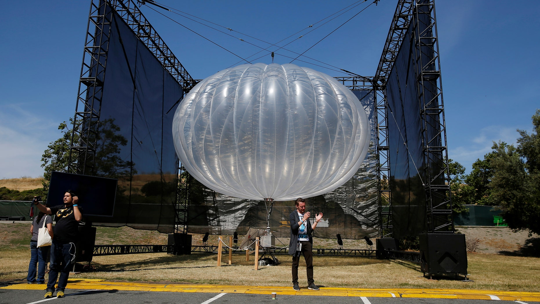 File photo - A Google Project Loon internet balloon is seen at the Google I/O 2016 developers conference in Mountain View, California May 19, 2016. (REUTERS/Stephen Lam)