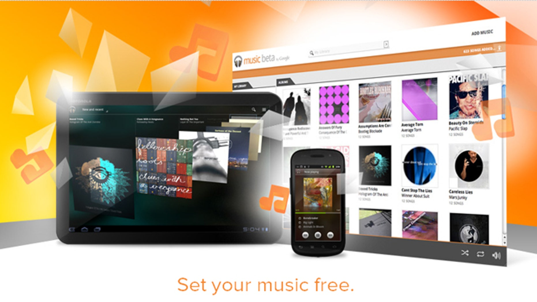 The Google Music store will compete with Apple's iTunes and other digital music services from the likes of Amazon and Spotify.