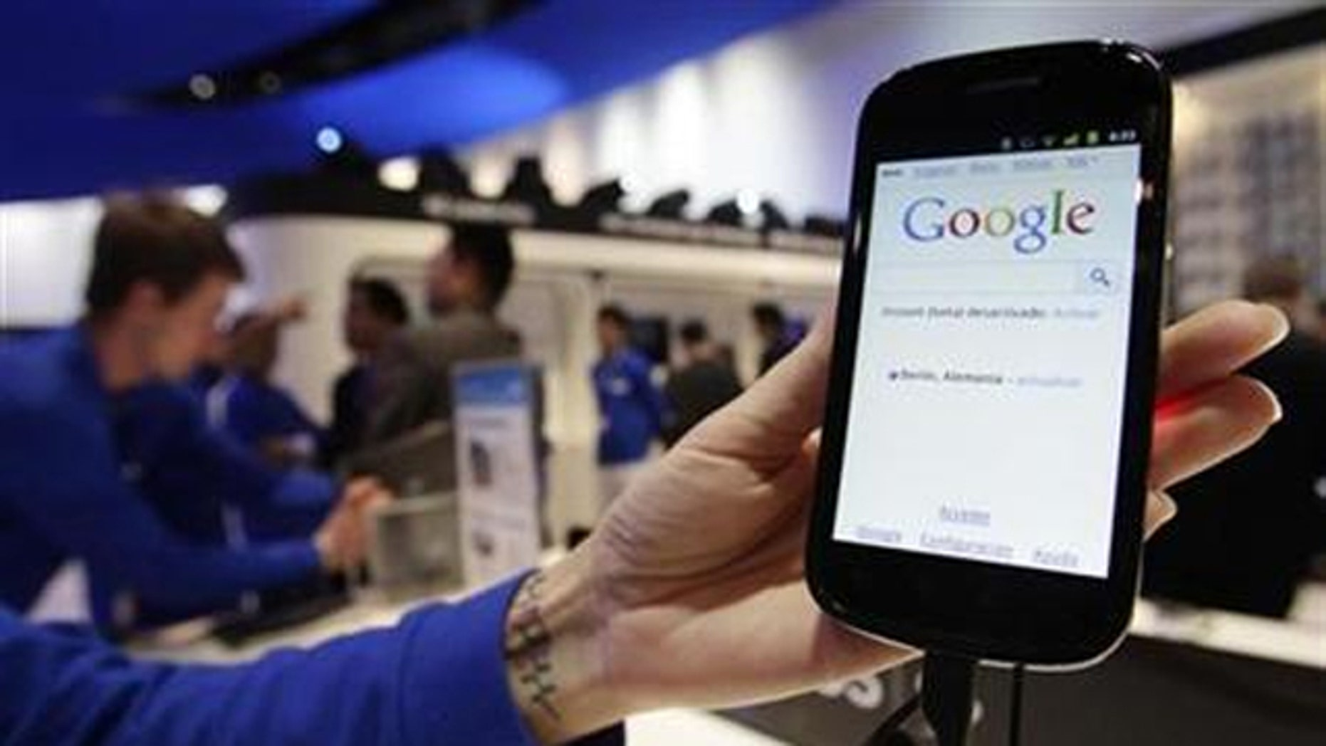 Samsung's Nexus S mobile phone, the first smartphone to use the Android 2.3 ''Gingerbread'' operating system, is displayed at the GSMA Mobile World Congress in Barcelona February 15, 2011.