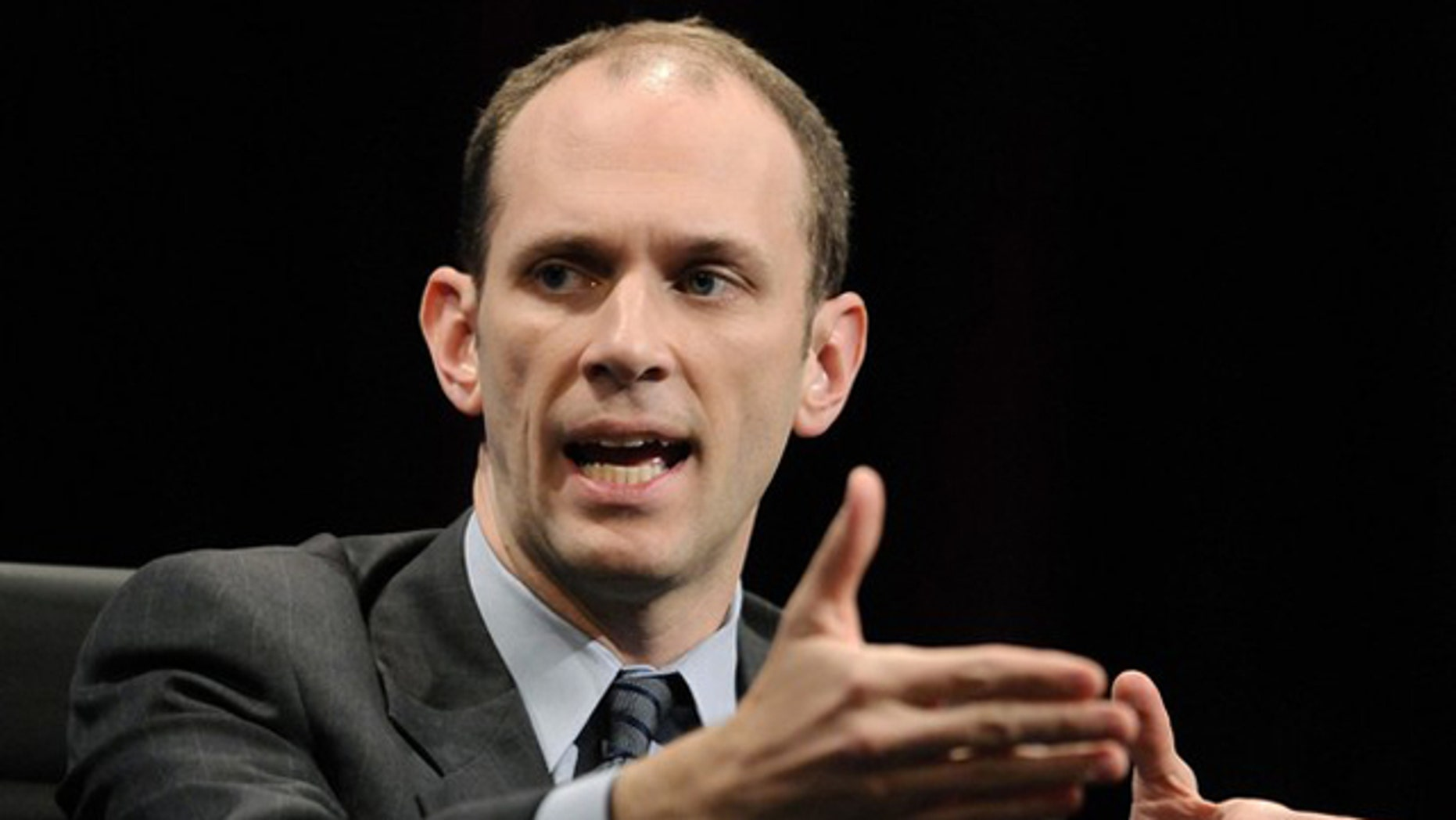 White House Council of Economic Advisers Chairman Austan Goolsbee gestures during the 2010 meeting of the Wall Street Journal CEO Council in Washington Nov. 16.
