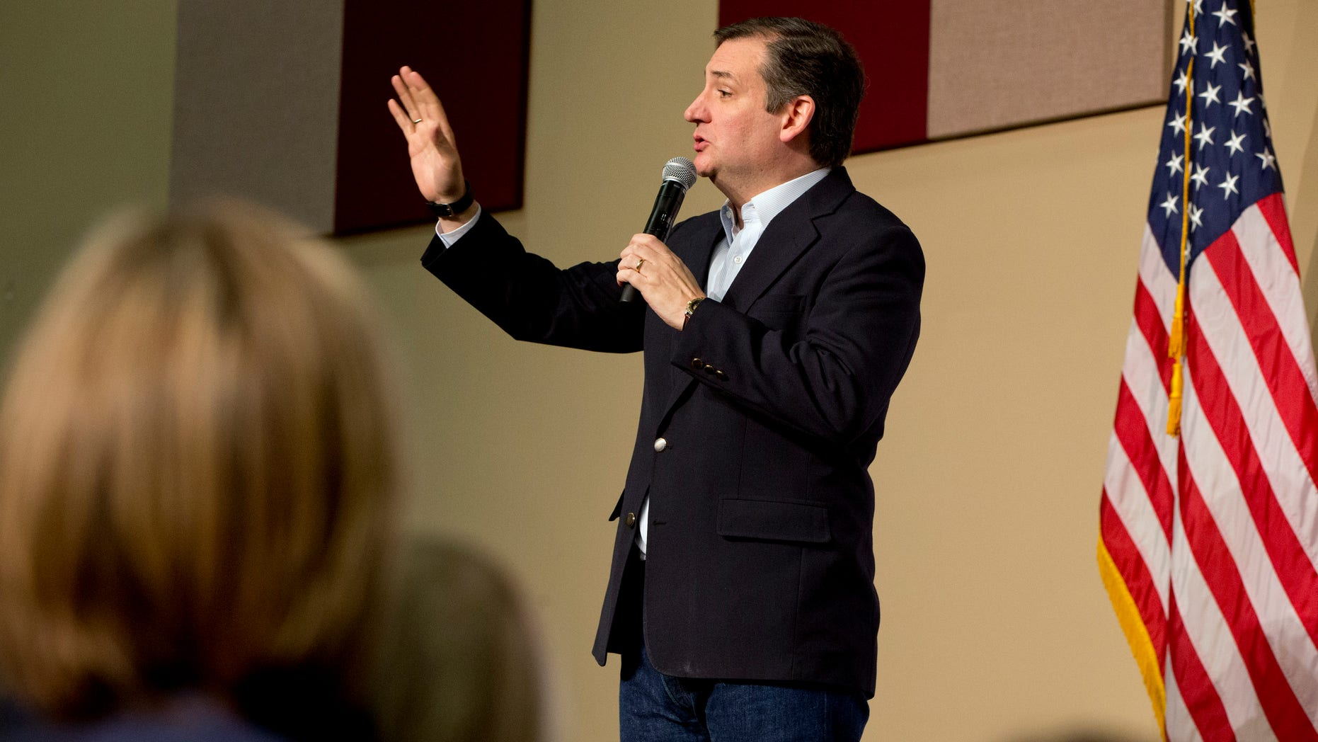 Feb 15, 2016: Republican presidential candidate Sen. Ted Cruz, R-Texas, speaks at a rally at the Southeastern Institute of Manufacturing & Technology in Florence, S.C.