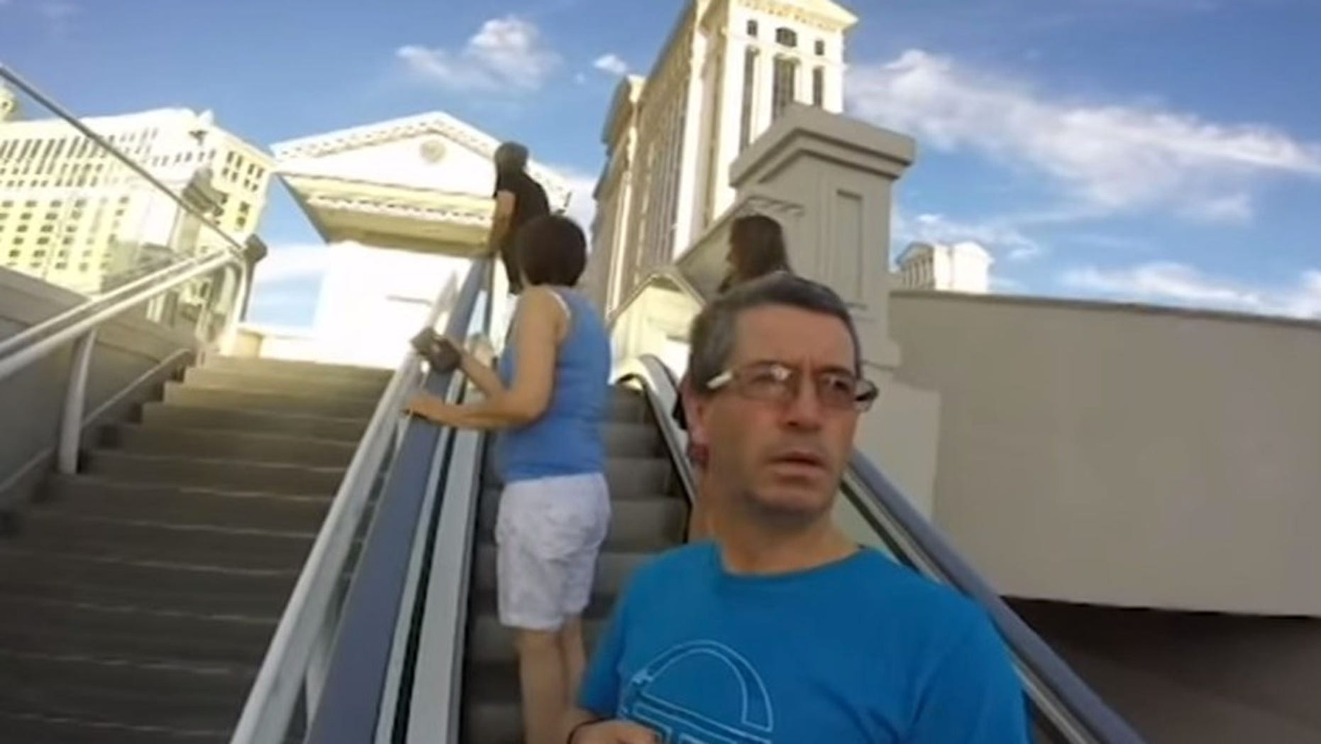 Irish tourist Joseph Griffin needed a lesson on how to work his son's GoPro.