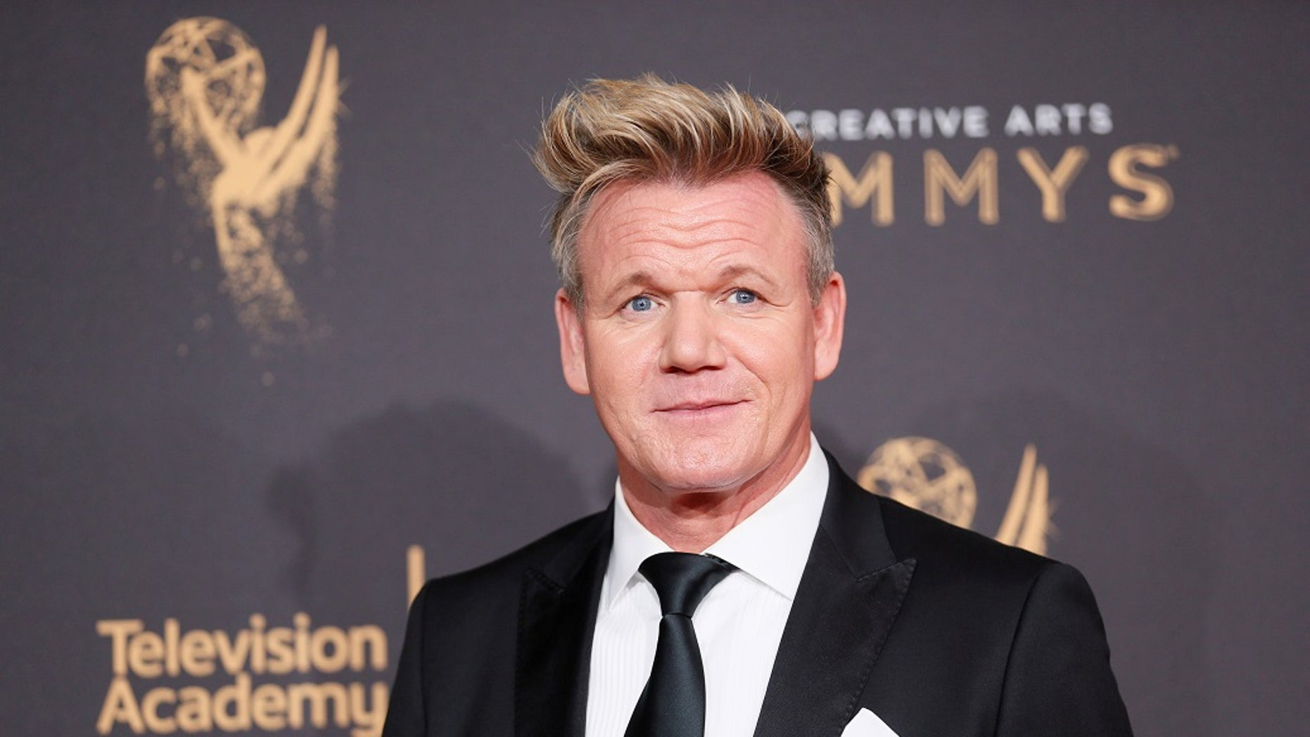 Chef Gordon Ramsay poses at the 2017 Creative Arts Emmy Awards in Los Angeles, California September 9, 2017. REUTERS/Danny Moloshok - RC14ECDE7760
