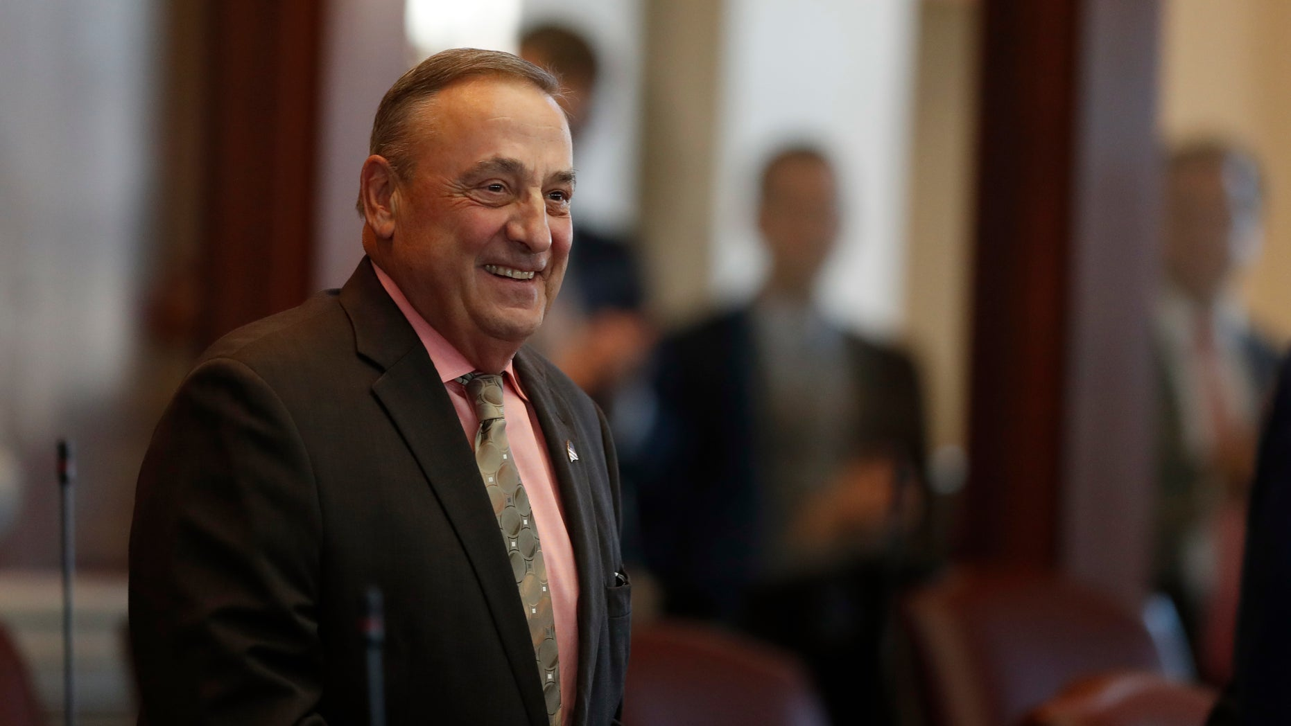 Dec. 19, 2016: Maine Gov. Paul LePage arrives in the House Chamber at the State House in Augusta, Maine.