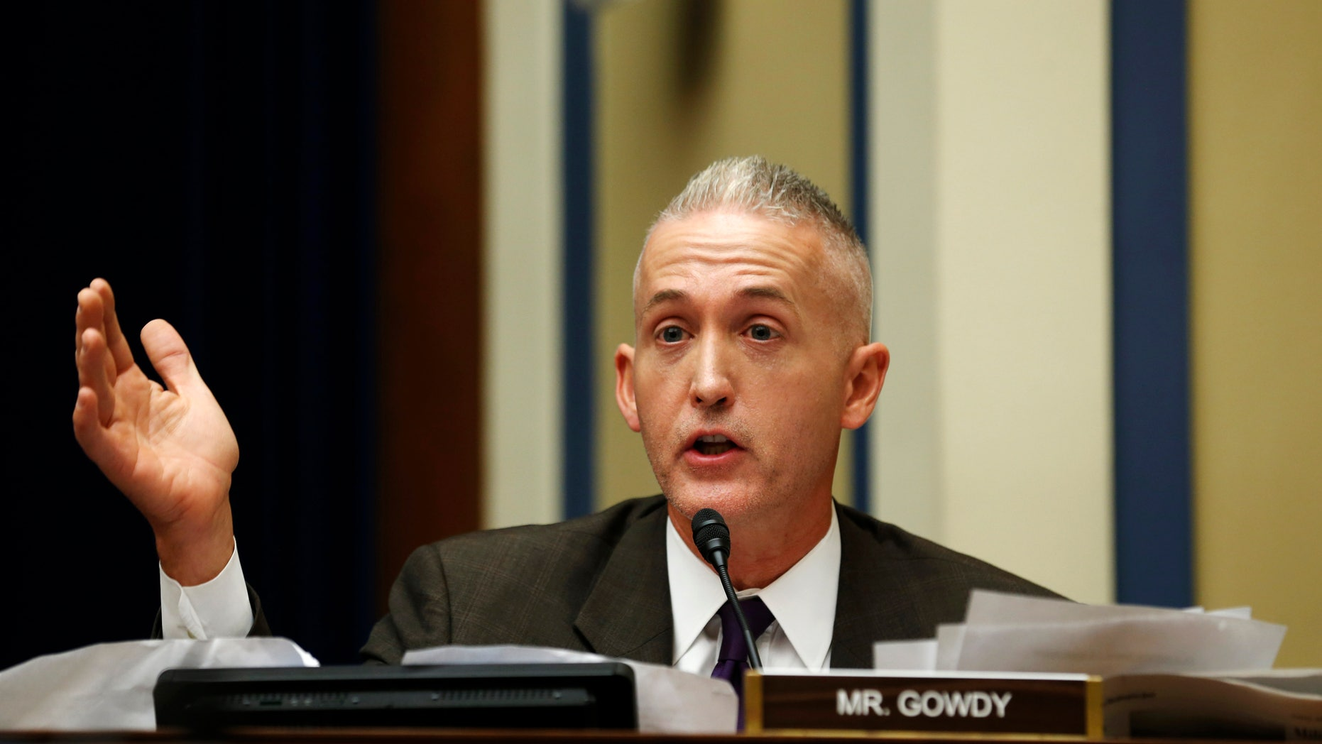 Sept. 30, 2014: Rep. Trey Gowdy questions U.S. Secret Service Director Julia Pierson during a House Oversight and Government Reform Committee hearing in Washington.