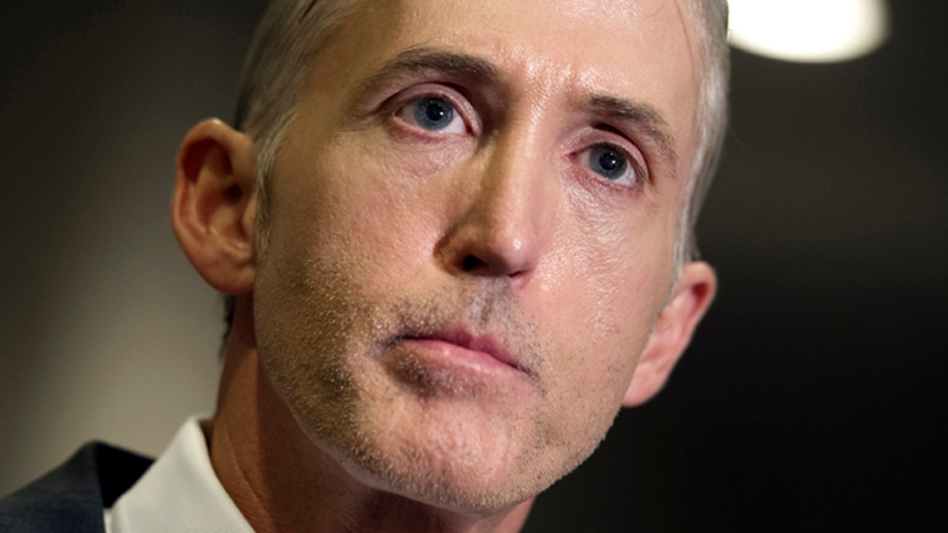 Sept. 15, 2015: House Benghazi Committee Chairman Trey Gowdy, R-S.C. speaks reporters on Capitol Hill  in Washington. (AP)