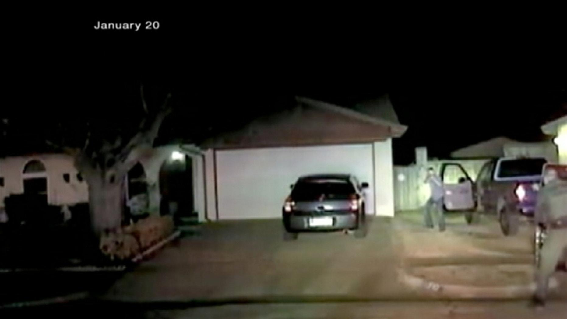 Screenshot of police dashcam video.