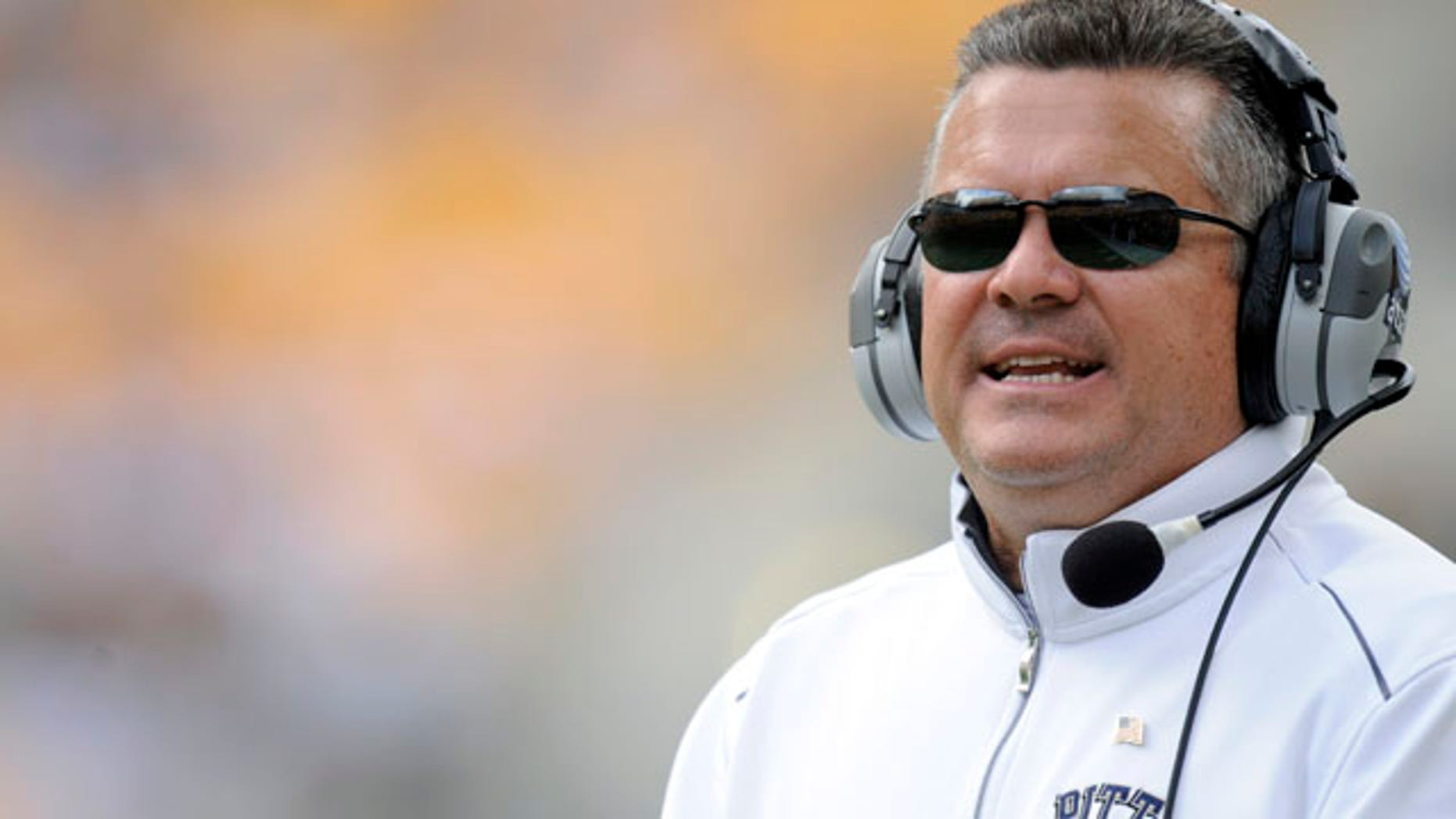 Sept. 10, 2011: Pittsburgh head coach Todd Graham looks on from the sideline against Maine during the fourth quarter of an NCAA football game in Pittsburgh.