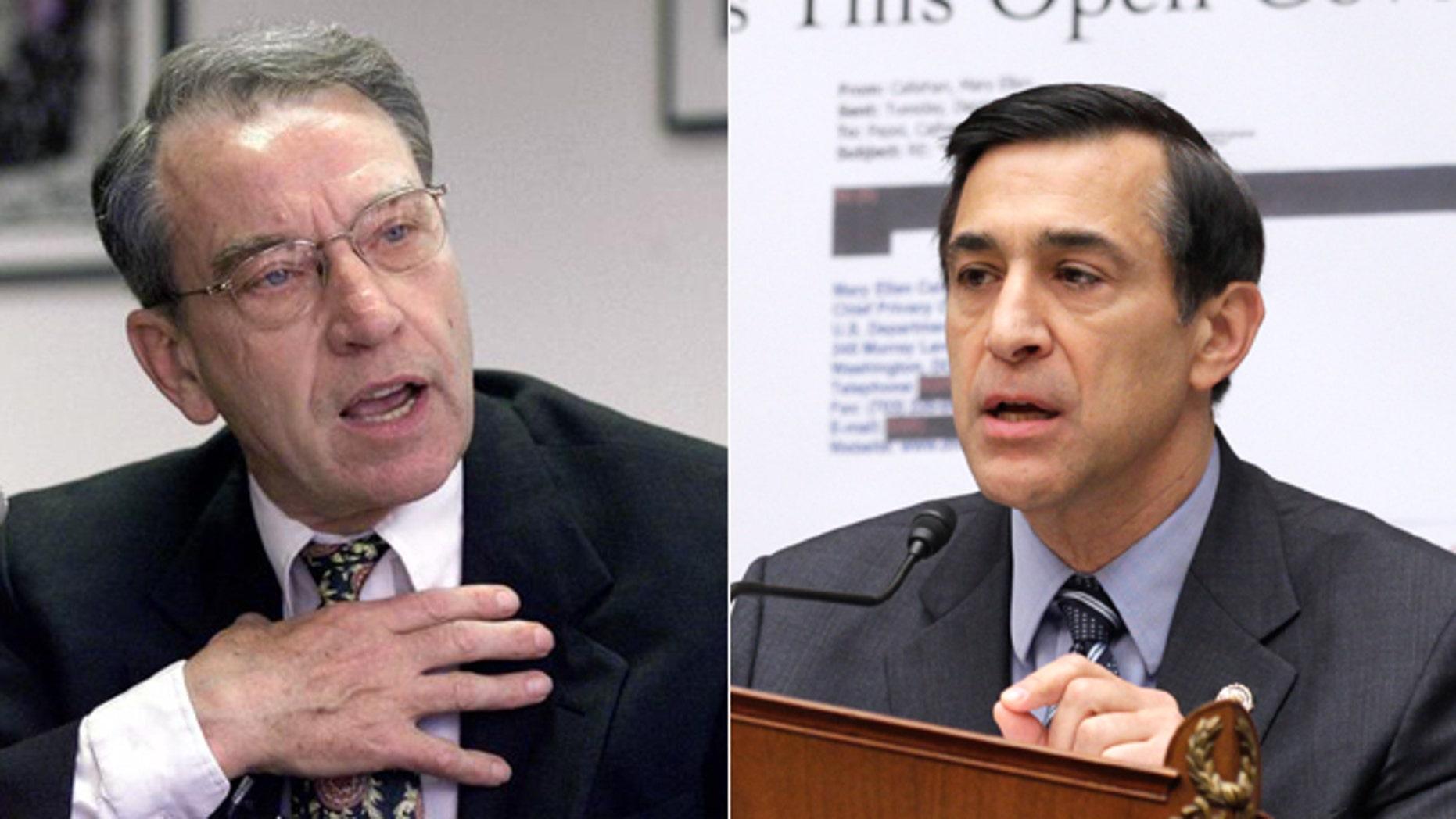 Sen. Charles Grassley, left, and Rep. Darrell Issa