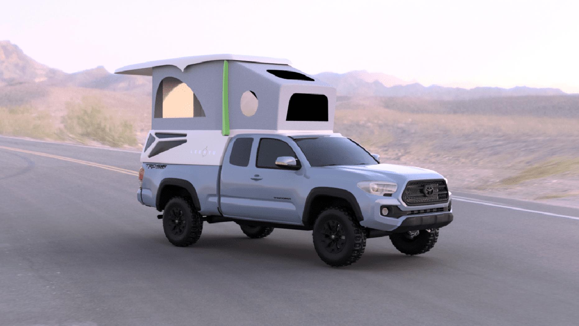 Leentu Is A Lightweight Pop Up Camper Built For The Toyota