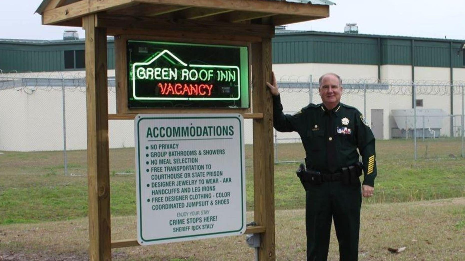 A county jail in Florida unveiled three new signs on Thursday.