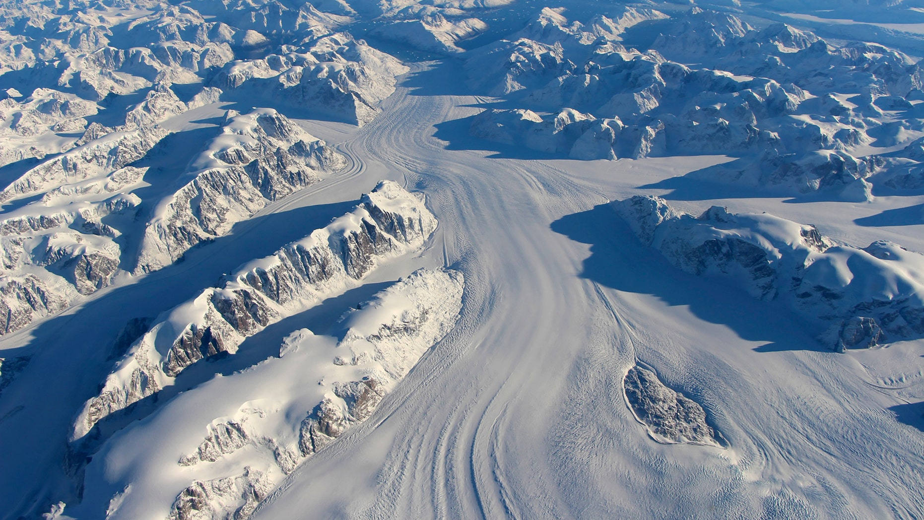 File photo - Heimdal Glacier in southern Greenland is seen in a NASA image captured by Langley Research Center's Falcon 20 aircraft Oct. 13, 2015 (REUTERS/NASA/John Sonntag/Handout via Reuters)