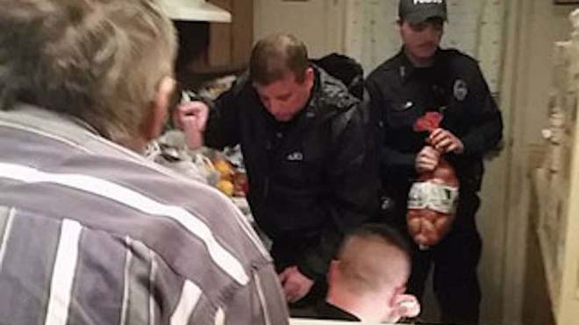 Police officers from the Mt. Pleasant Police Department delivered groceries to a 79-year-old man who told dispatchers he didn't eat for two days.