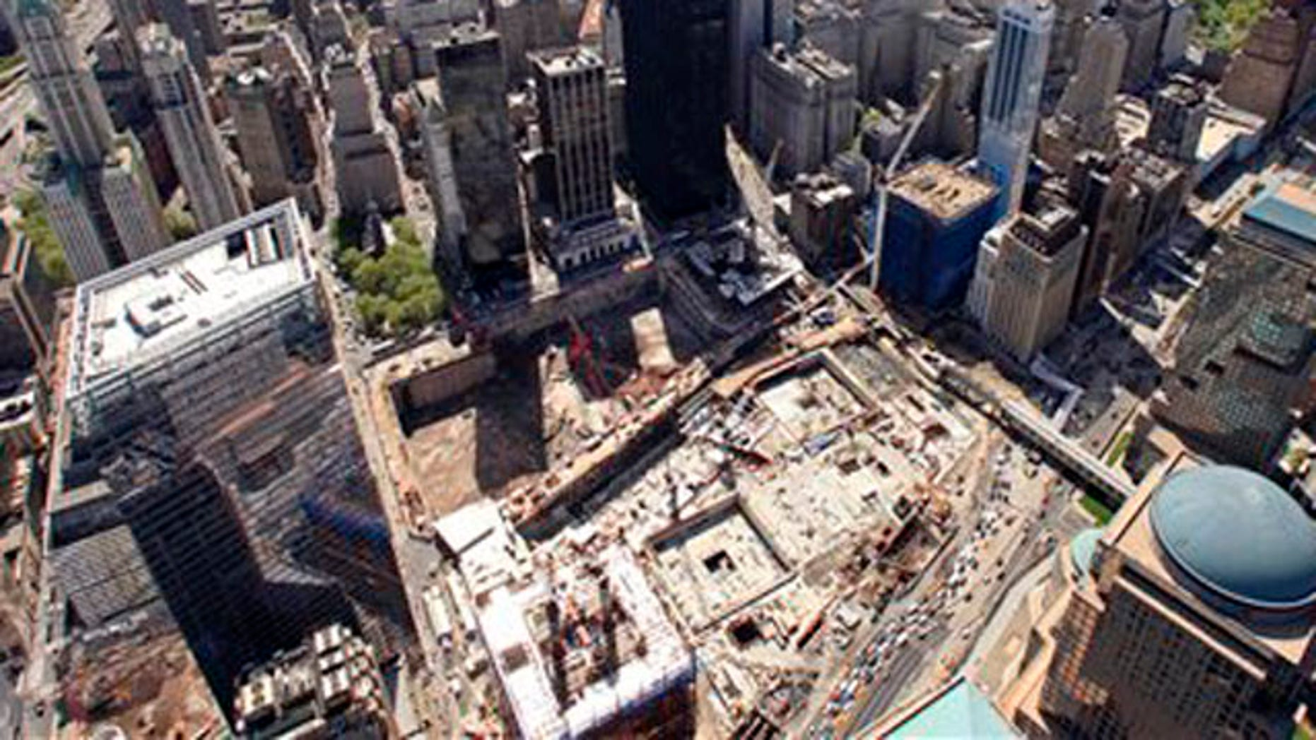 April 20, 2010: The skyscrapers of lower Manhattan surrounding the World Trade Center site, often referred to as Ground Zero (AP).