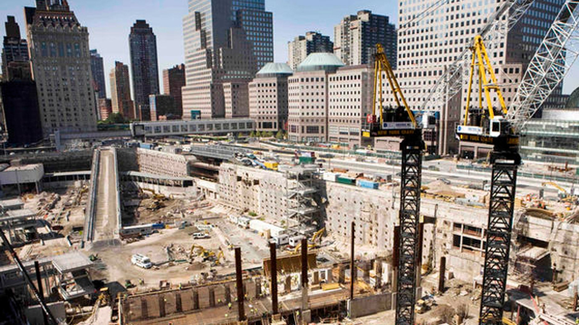 This 2007 file photo shows construction at the World Trade Center site in New York.