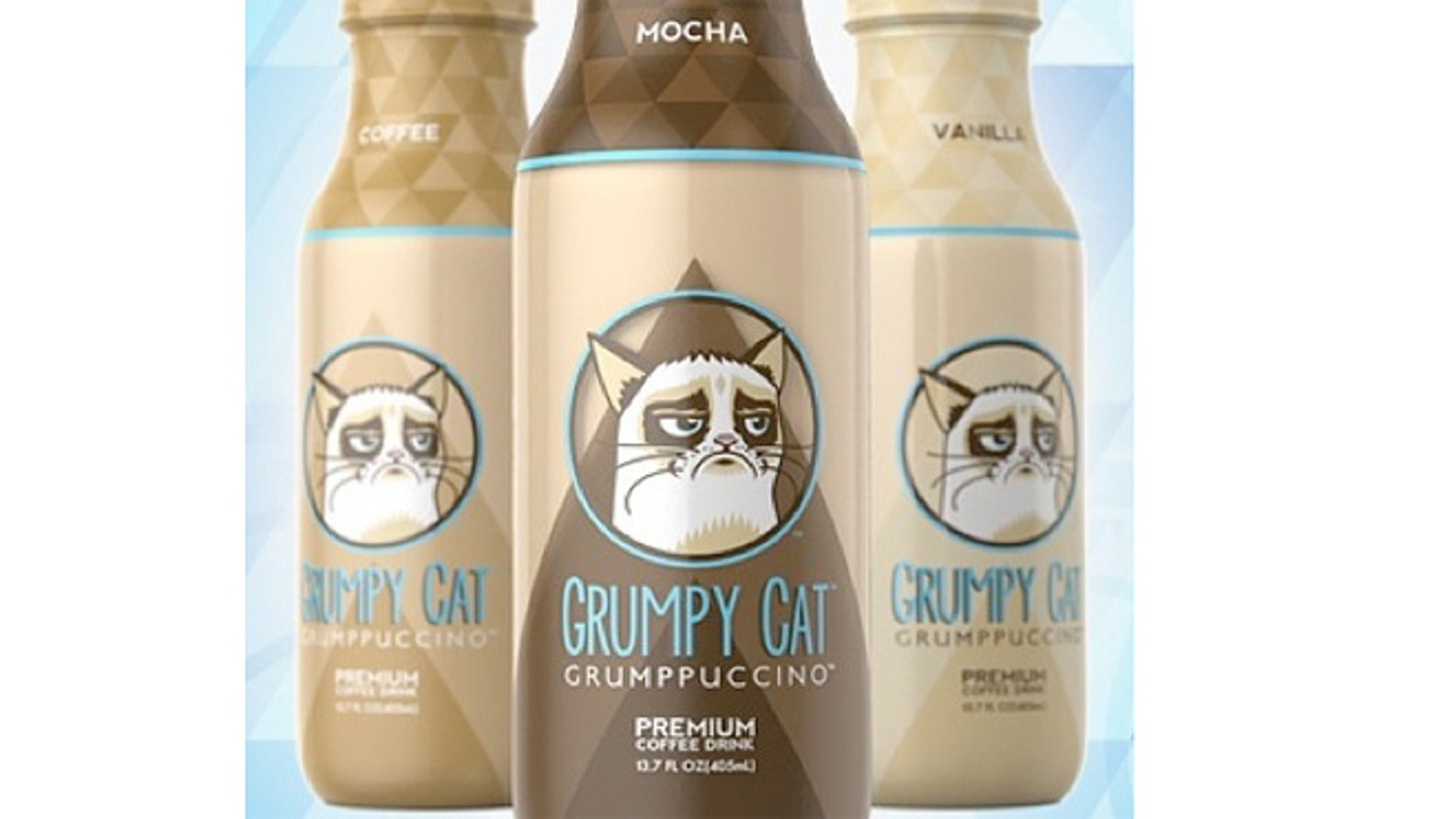 The cat named Tarder Sauce, also known as Grumpy Cat, is the inspiration for a new iced coffee drink.