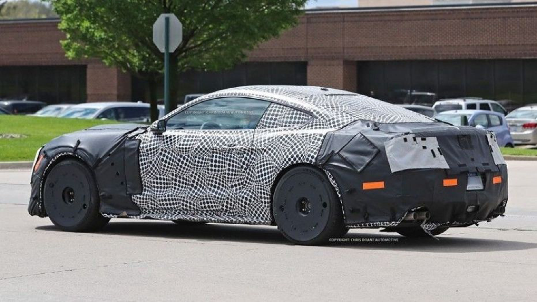 A prototype of what is believed to be the new gt500 has been spotted outside fords