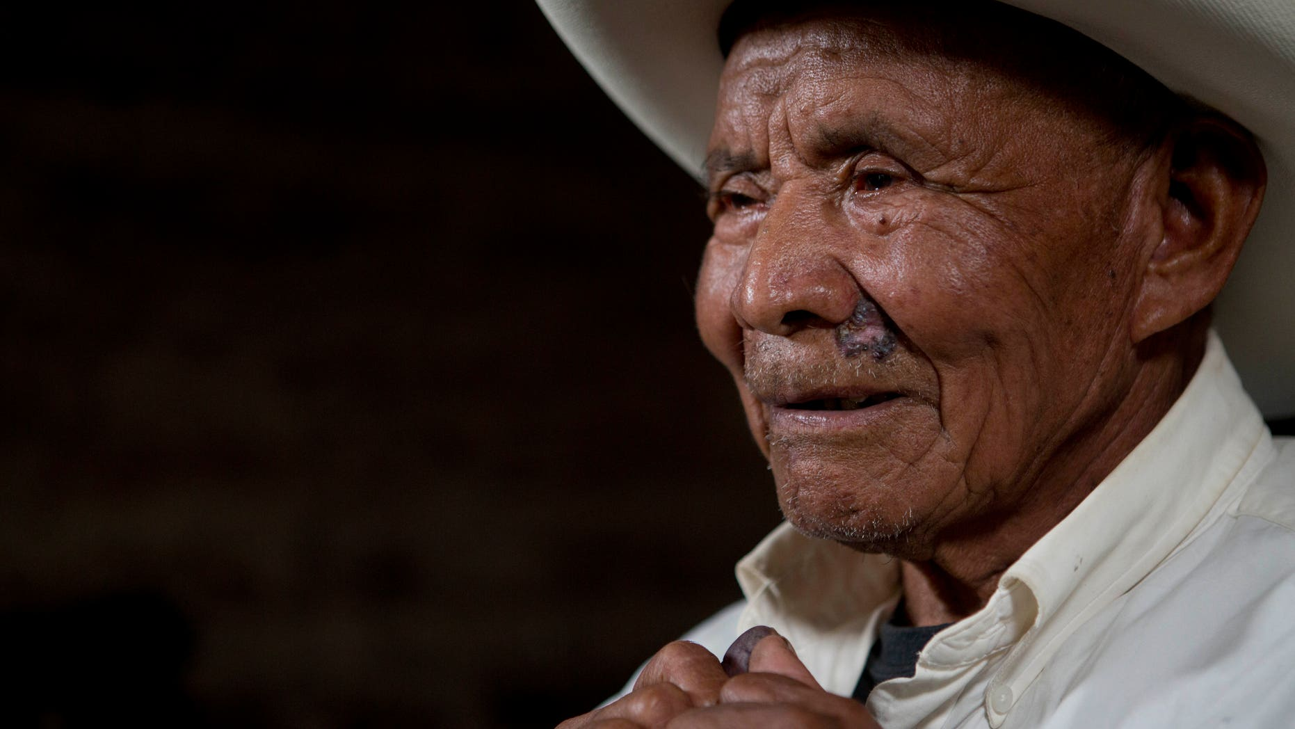 Fernando Osorio, a survivor of the Rio Negro massacre, during an interview to the Guatemalan Forensic Anthropology Foundation.