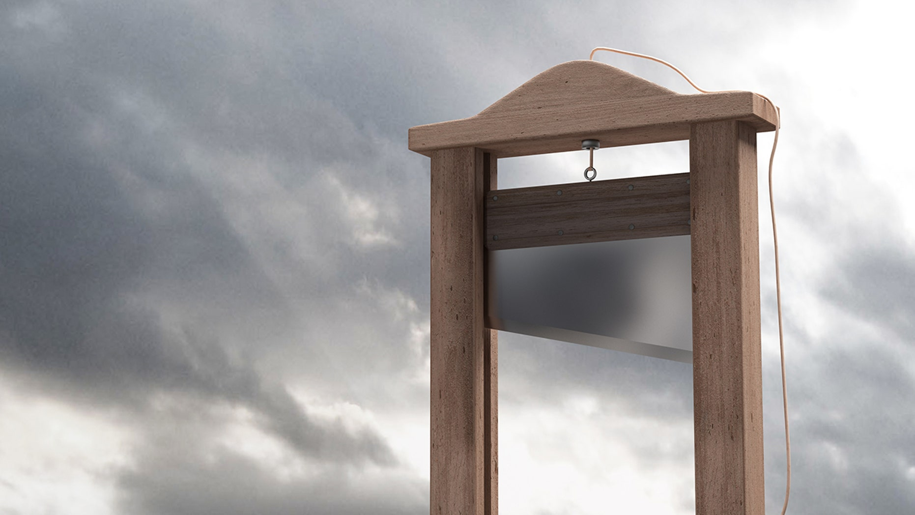 A guillotine, not the one pictured above, is up for auction in Paris.