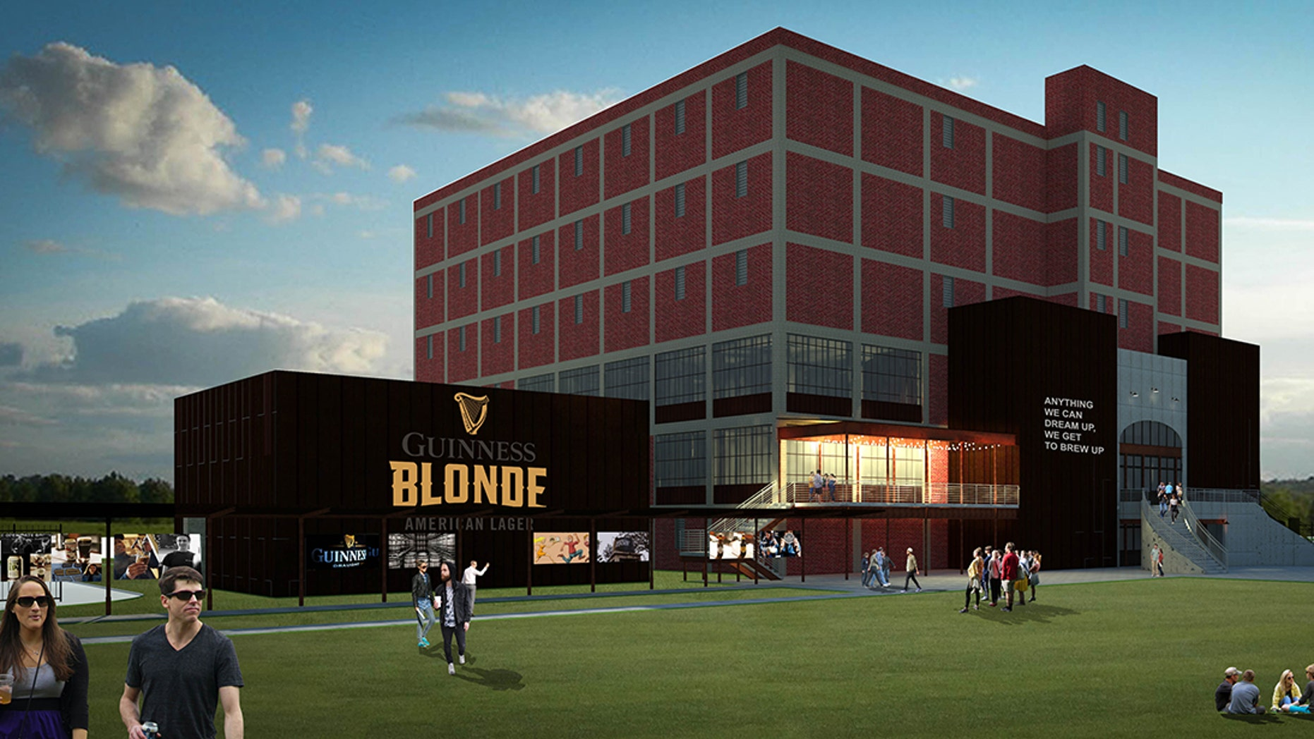 A concept of the exterior of the future Guinness Open Gate Brewery in Relay, Md.