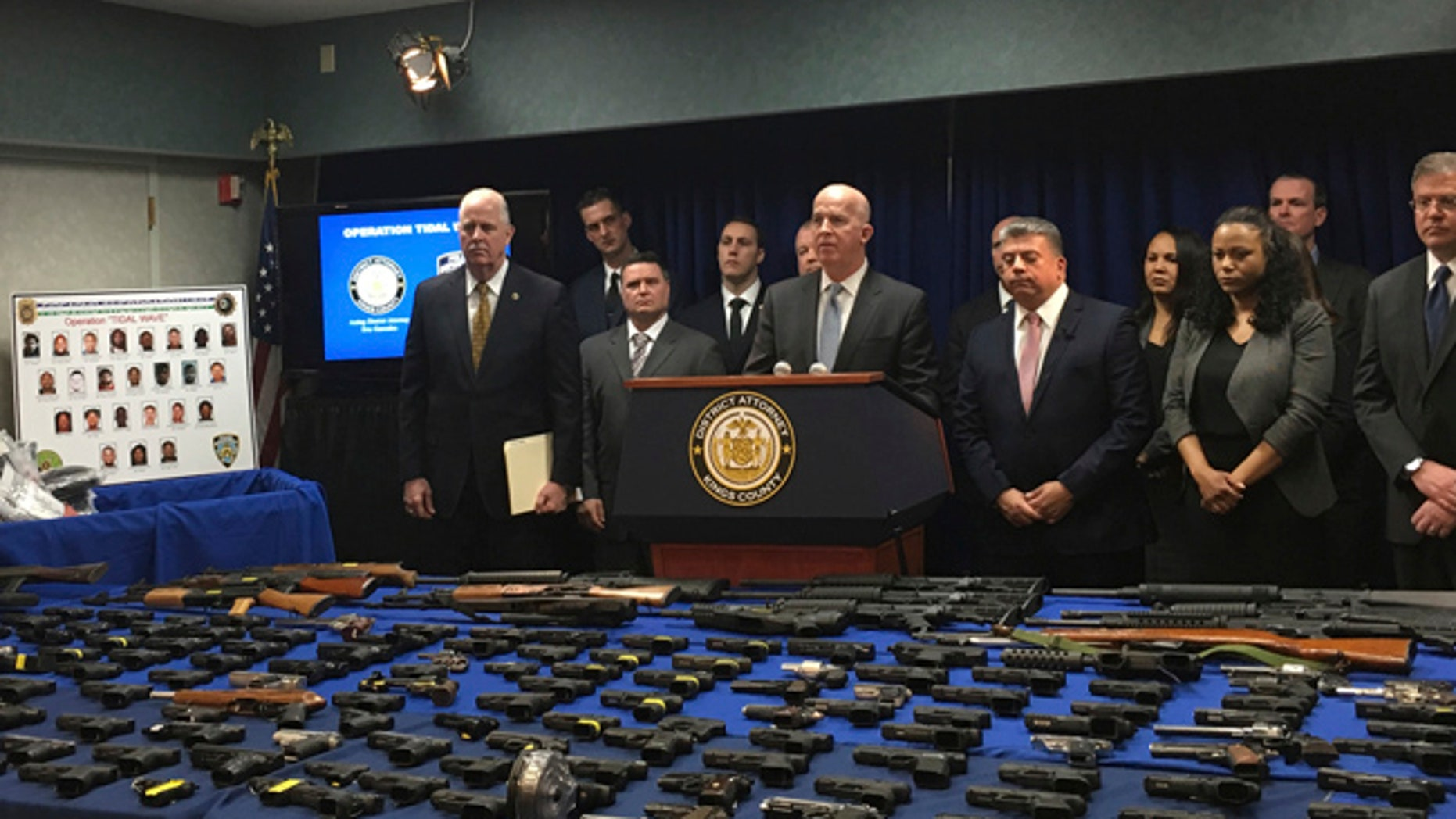 NYC Police Commisssioner James O'Neill speaks at a news conference in Brooklyn, New York