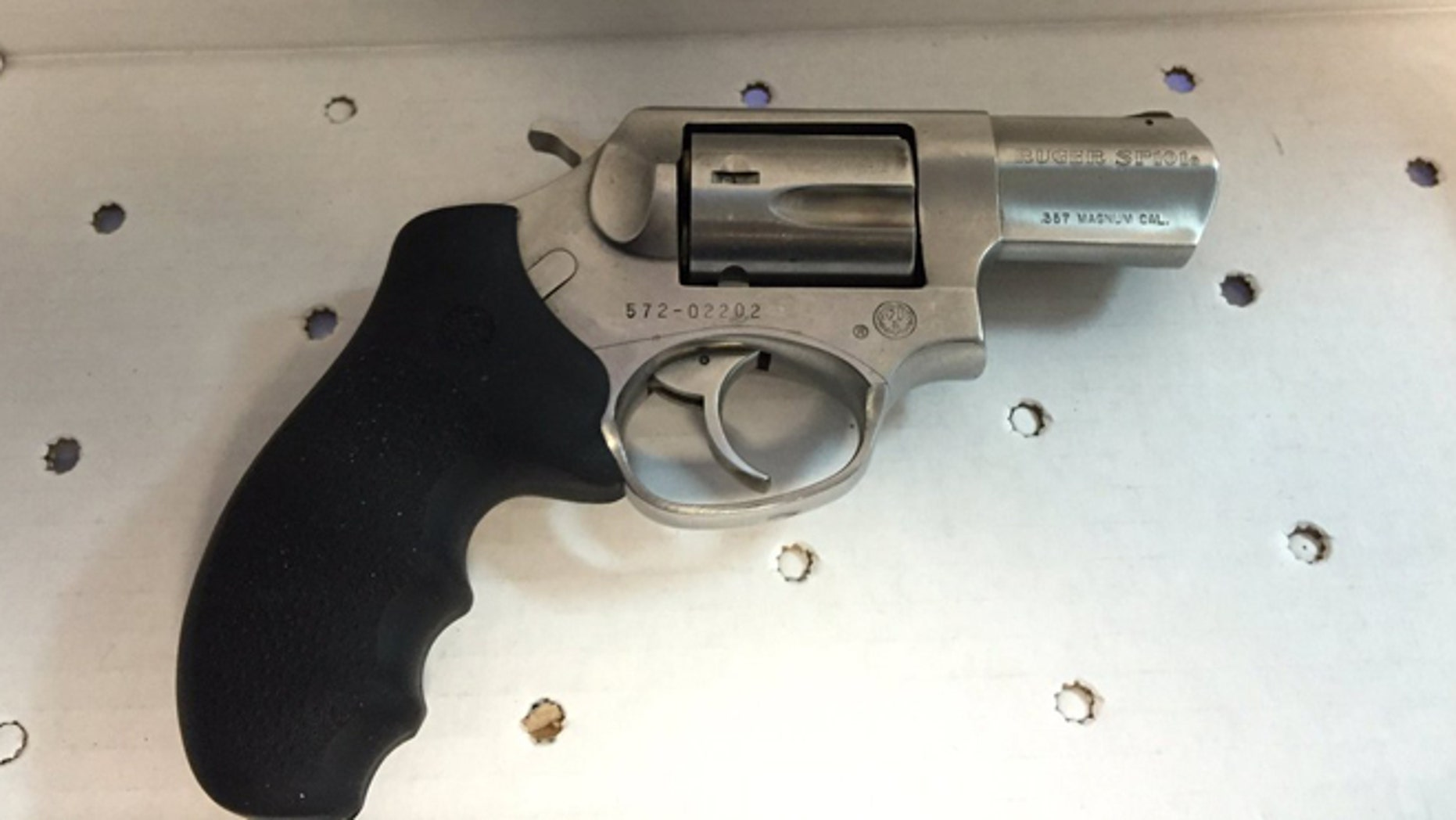 NYPD displays gun recovered after Brooklyn shootout, Saturday, Feb. 20, 2016. (NYPD)
