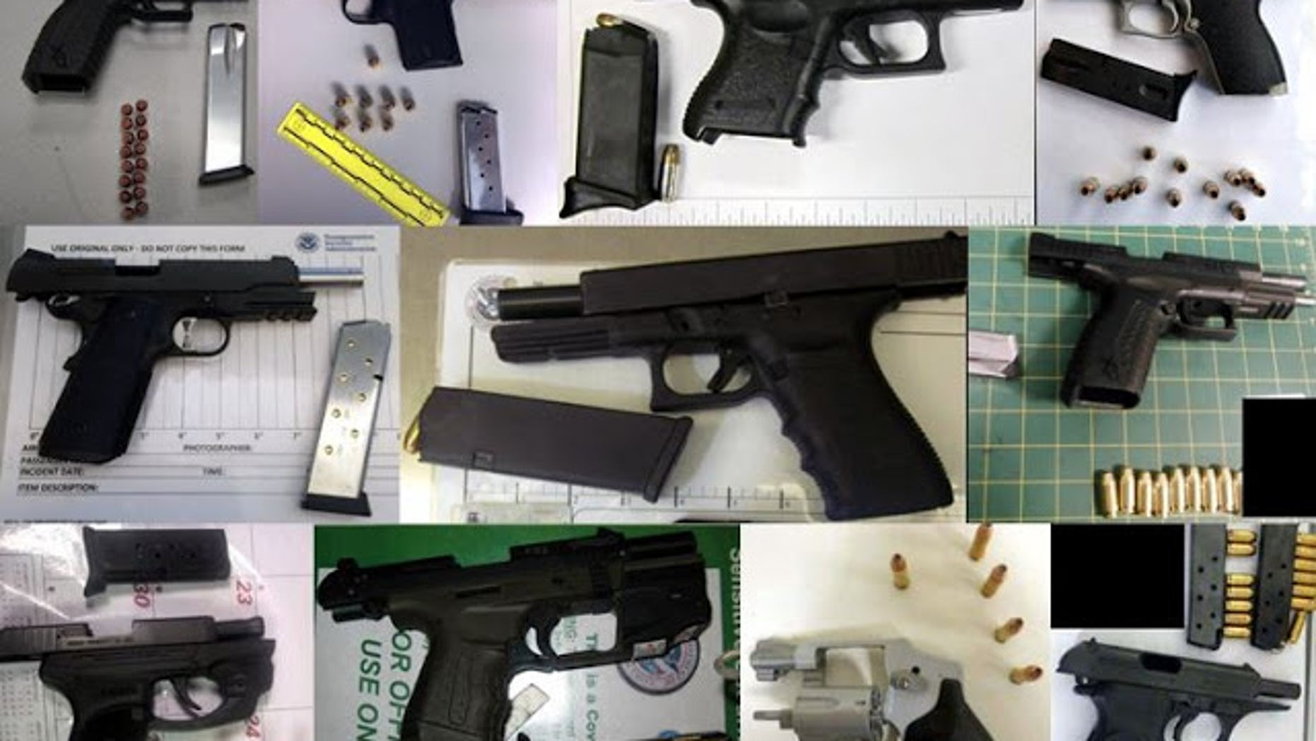 TSA agents found 74 firearms during a period of one week in July.