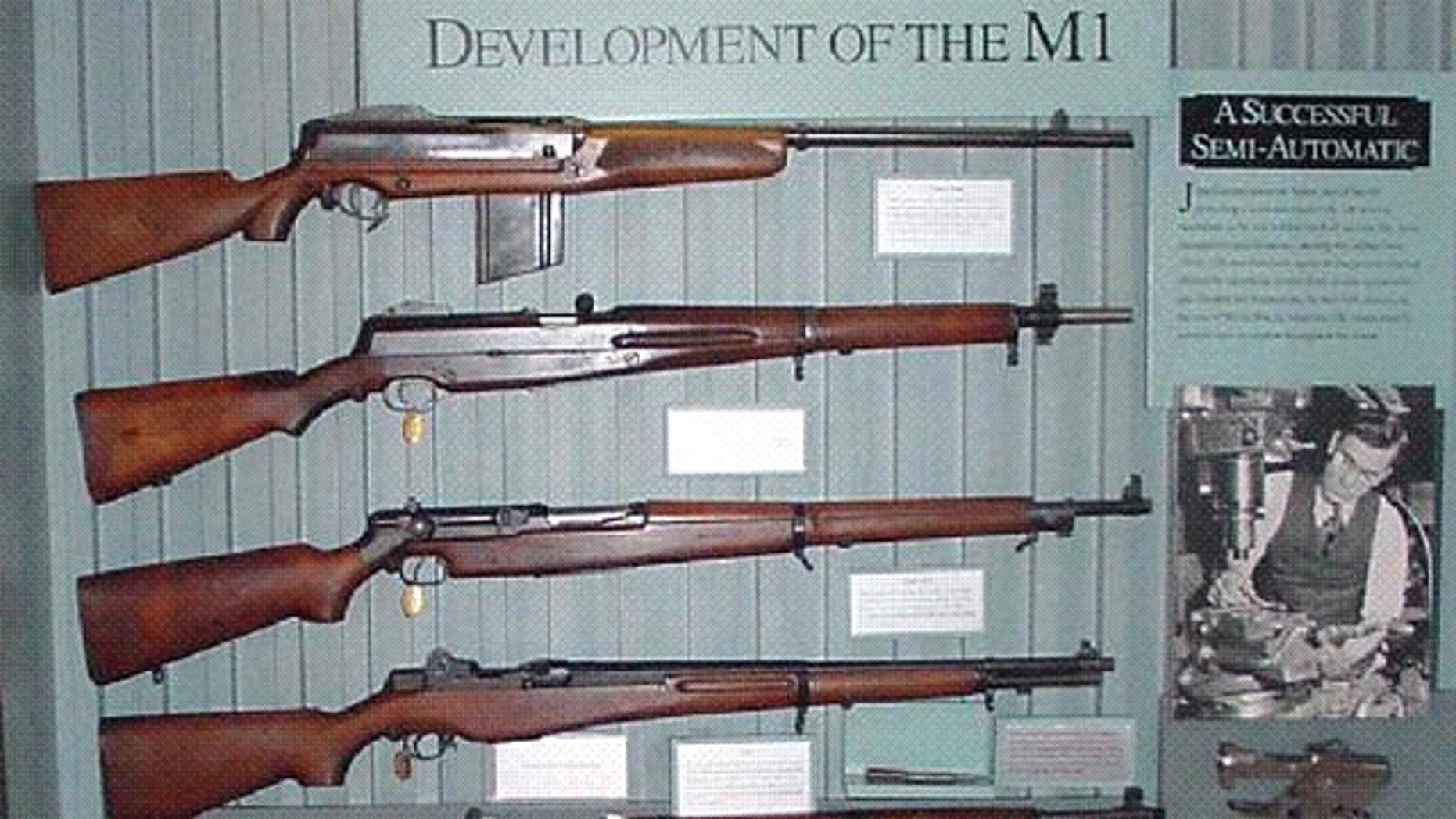 A photo of M1 Garands (National Park Service)