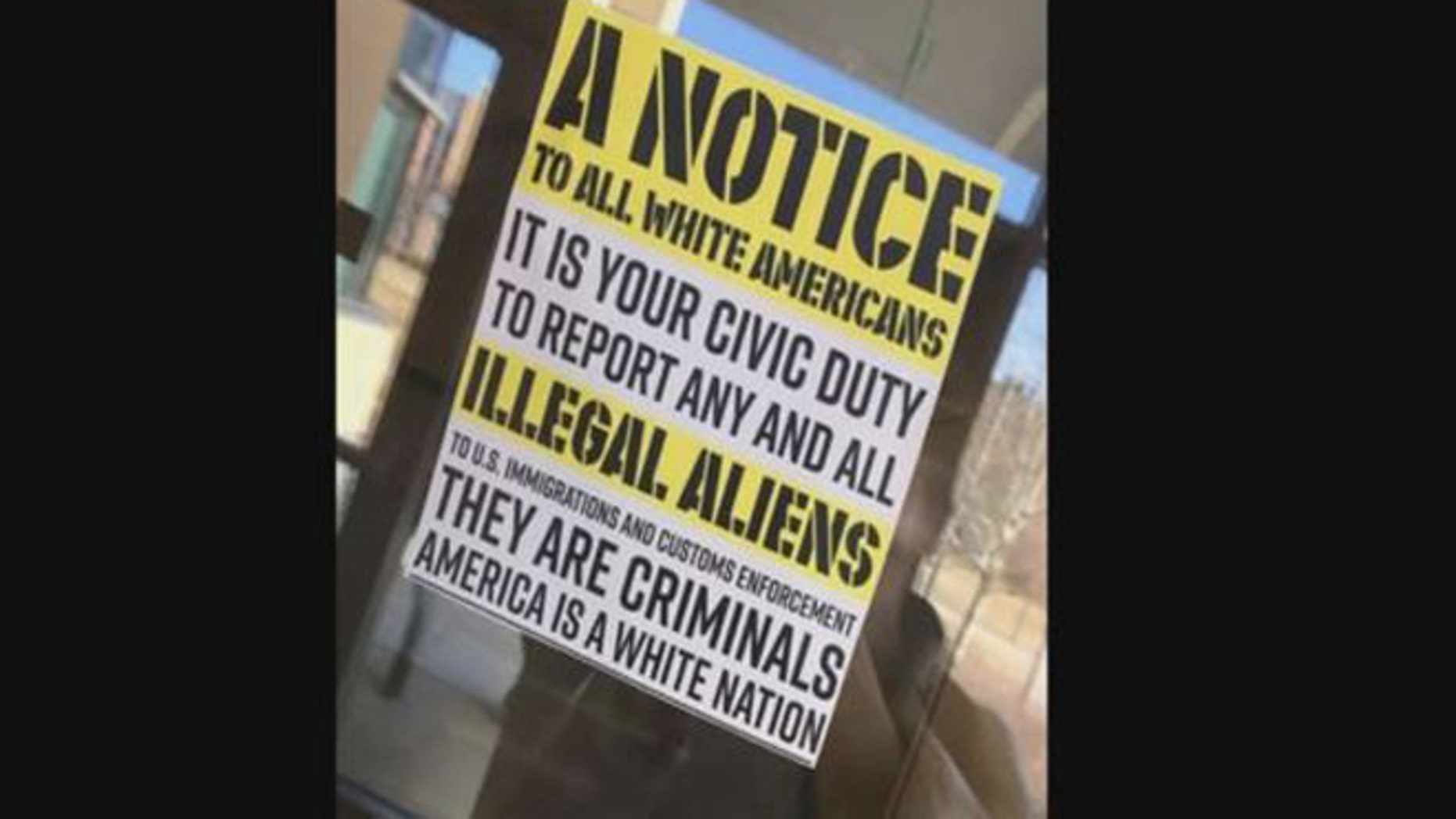 This racist flier sparked an angry response on the campus of Gustavus Adolphus College in Minnesota.
