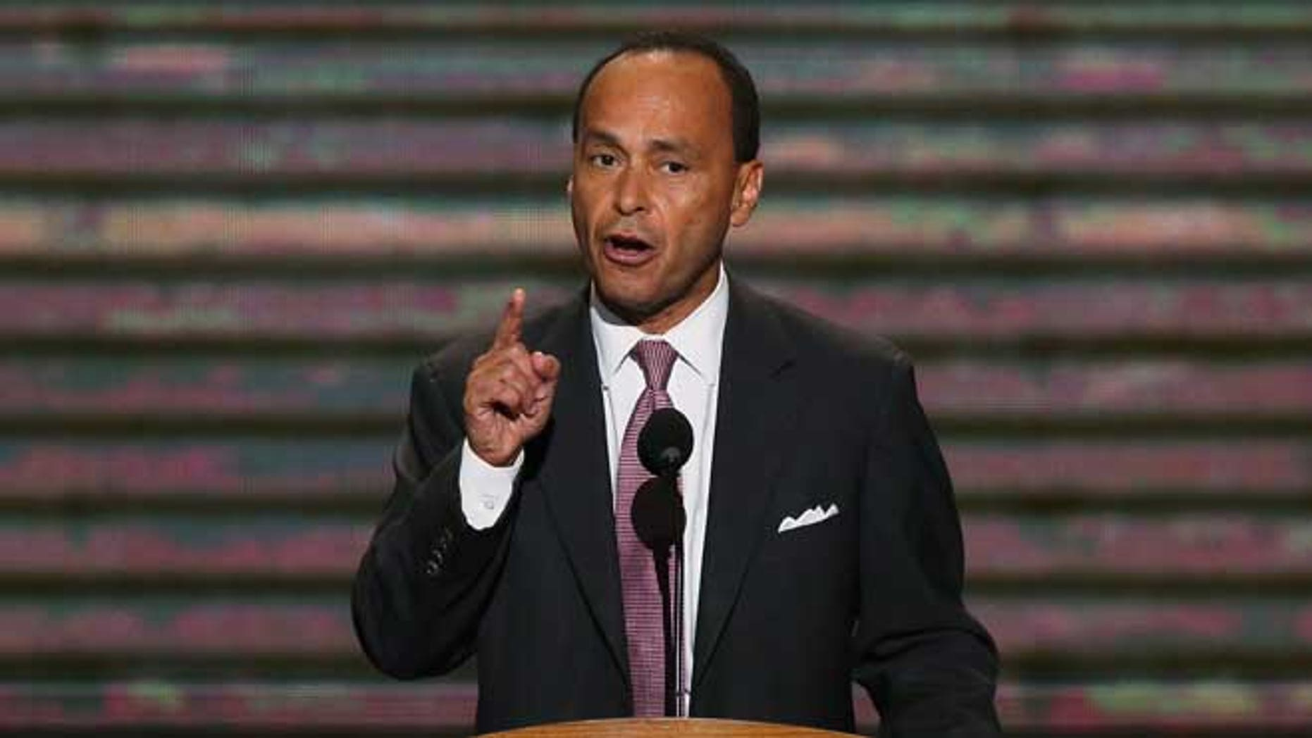 CHARLOTTE, NC - SEPTEMBER 05:  U.S. Rep. Luis V. Gutierrez (D-IL) speaks during day two of the Democratic National Convention at Time Warner Cable Arena on September 5, 2012 in Charlotte, North Carolina. The DNC that will run through September 7, will nominate U.S. President Barack Obama as the Democratic presidential candidate.  (Photo by Alex Wong/Getty Images)